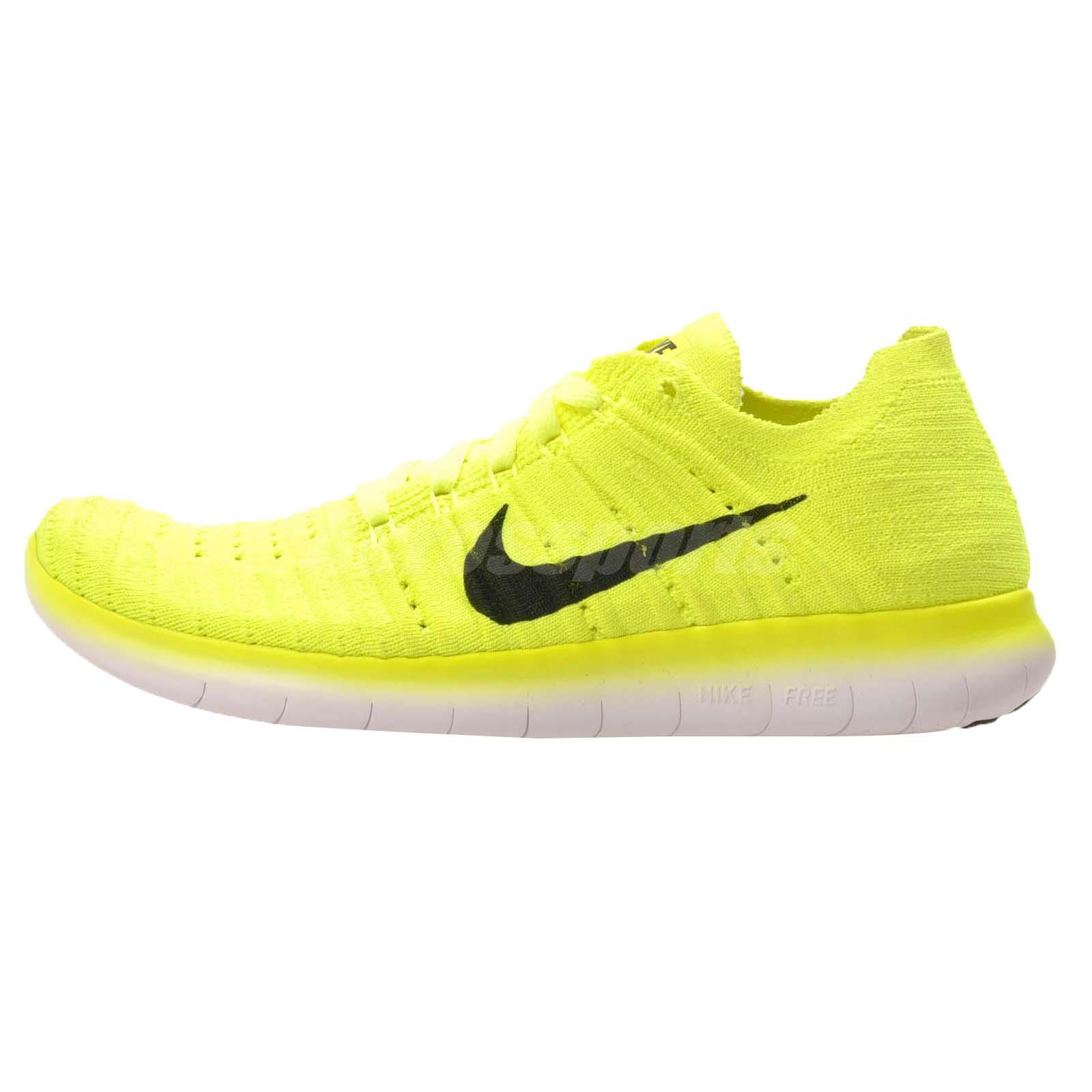 7802dc9c83291 ... Nike Free RN Flyknit (GS) Kids Youth Running Shoes NWOB Volt 834362-700  . ...