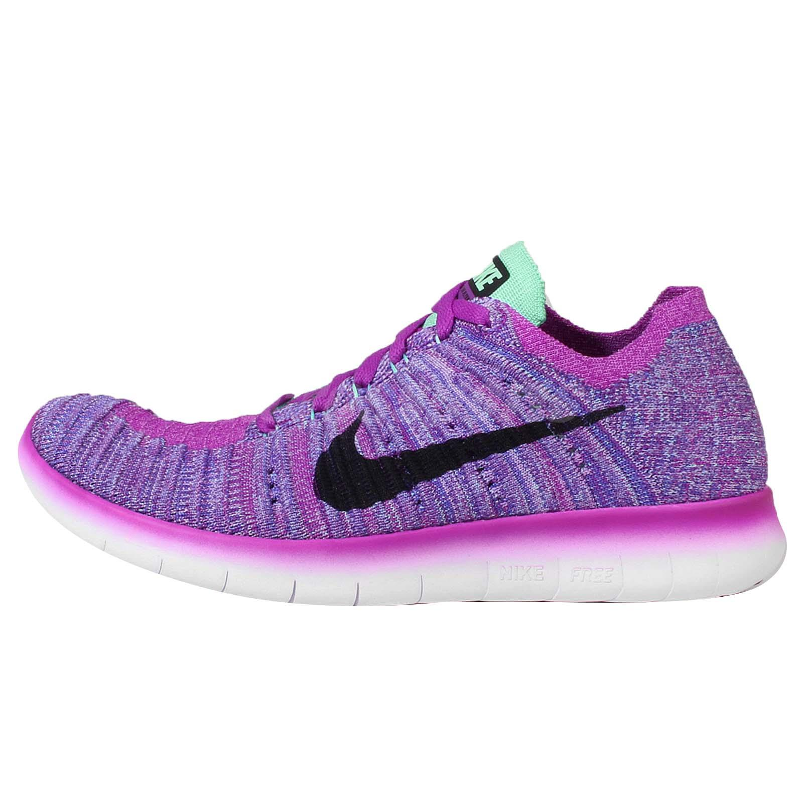 e0d1cd559bd04 Nike Free RN Flyknit GS Run Purple Black Kids Womens Running Shoes  834363-500