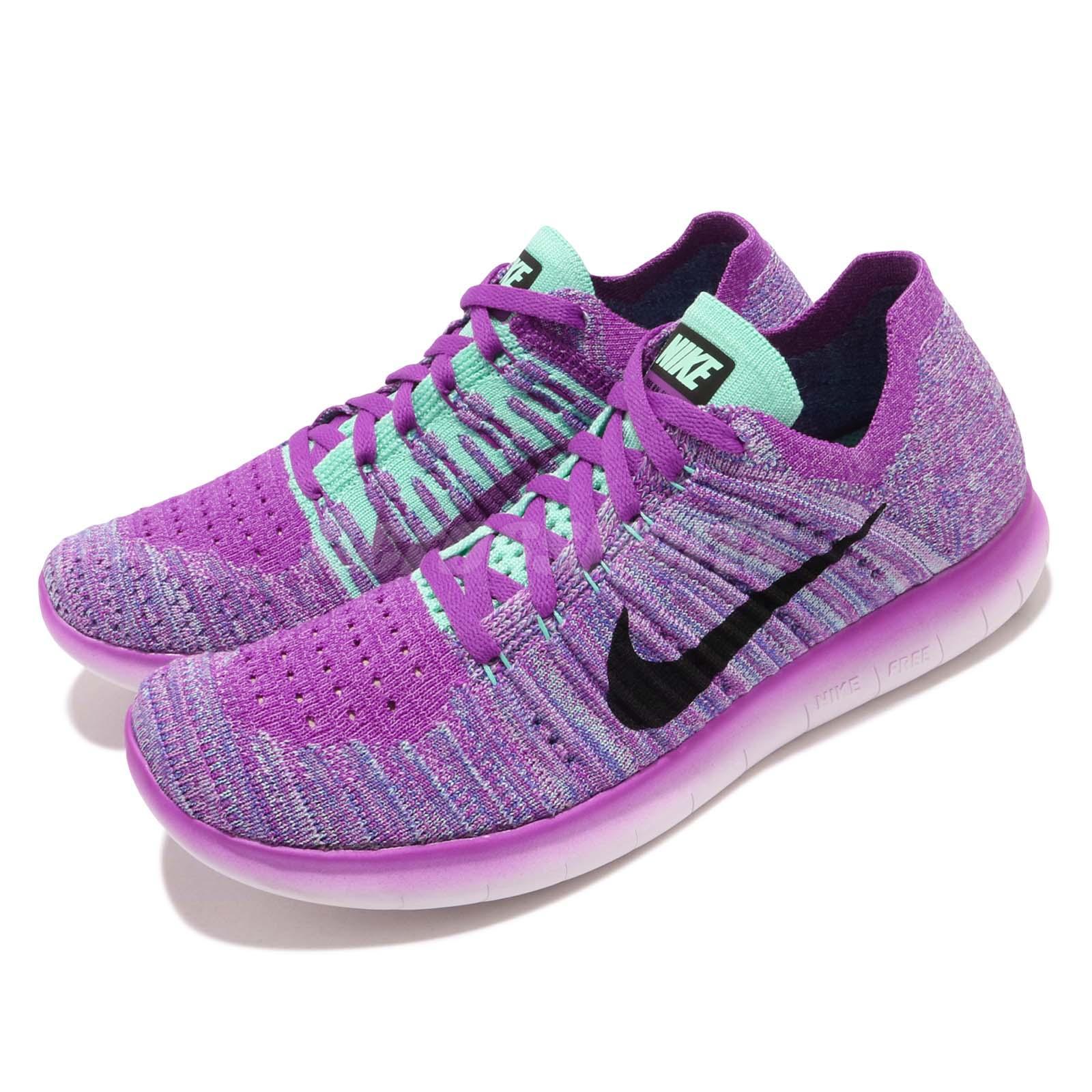 685da18e35f6 Details about Nike Free RN Flyknit GS Run Purple Black Kids Womens Running  Shoes 834363-500