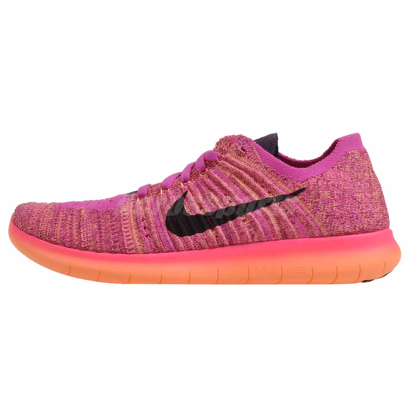 Nike Free RN Flyknit (GS) Kids Womens Running Shoes Fire Pink 834363-601