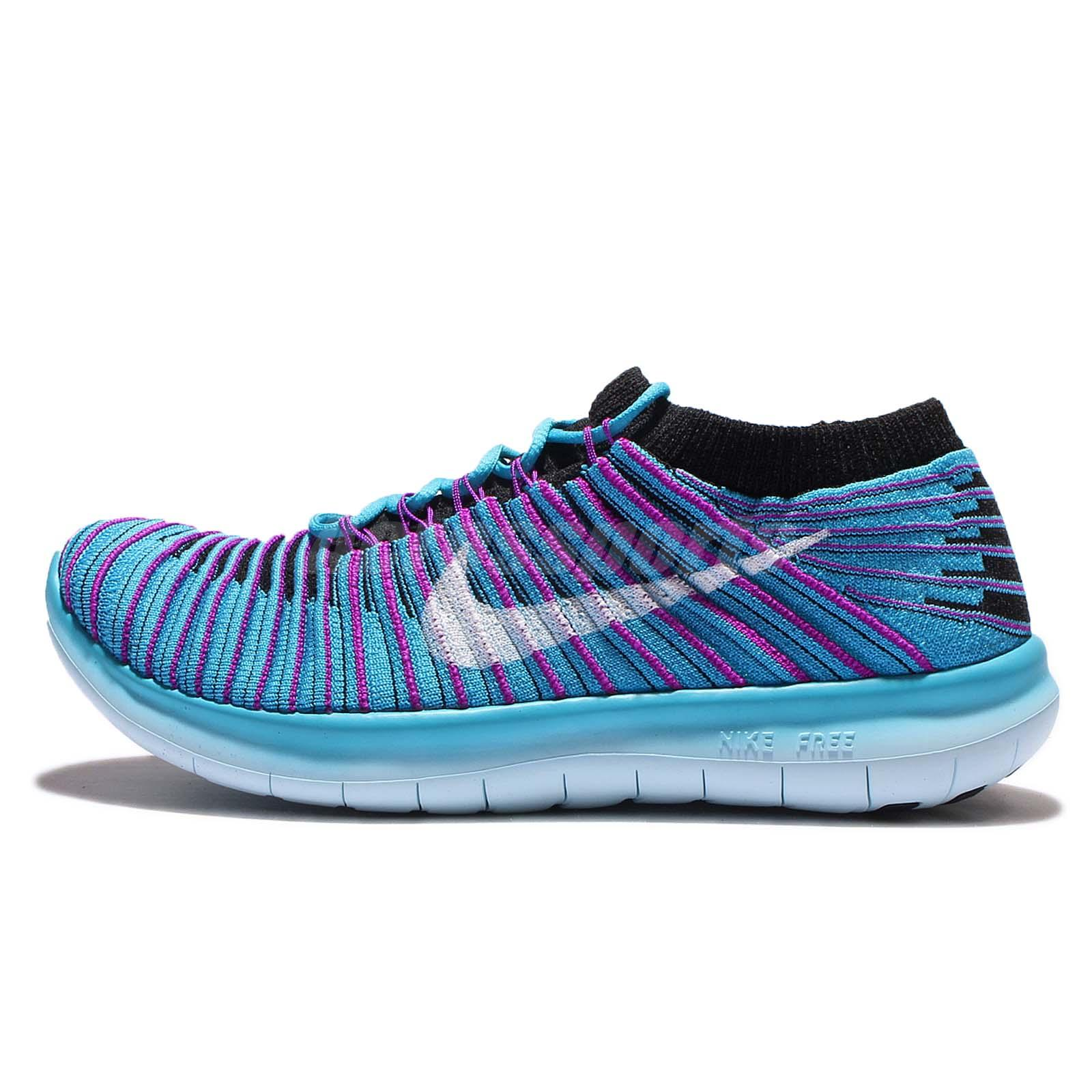 8143c84e753 Wmns Nike Free RN Motion Flyknit Blue Black Womens Running Trainers  834585-401