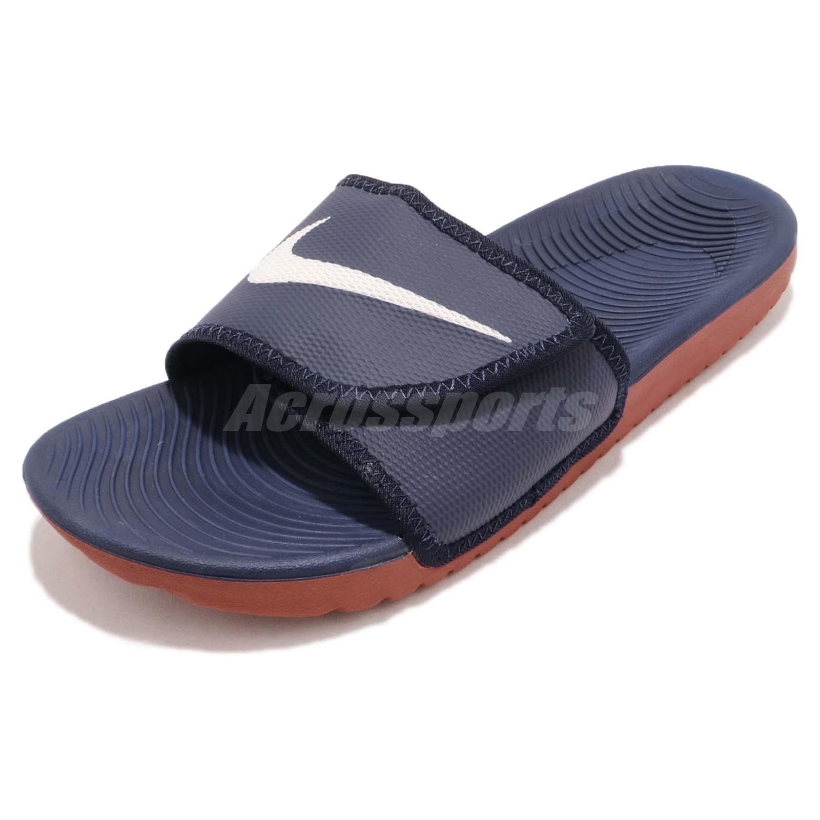 huge discount 45b20 77782 Details about Nike Kawa Adjust Navy White Dune Red Men Sports Sandals Slide  Slipper 834818-404
