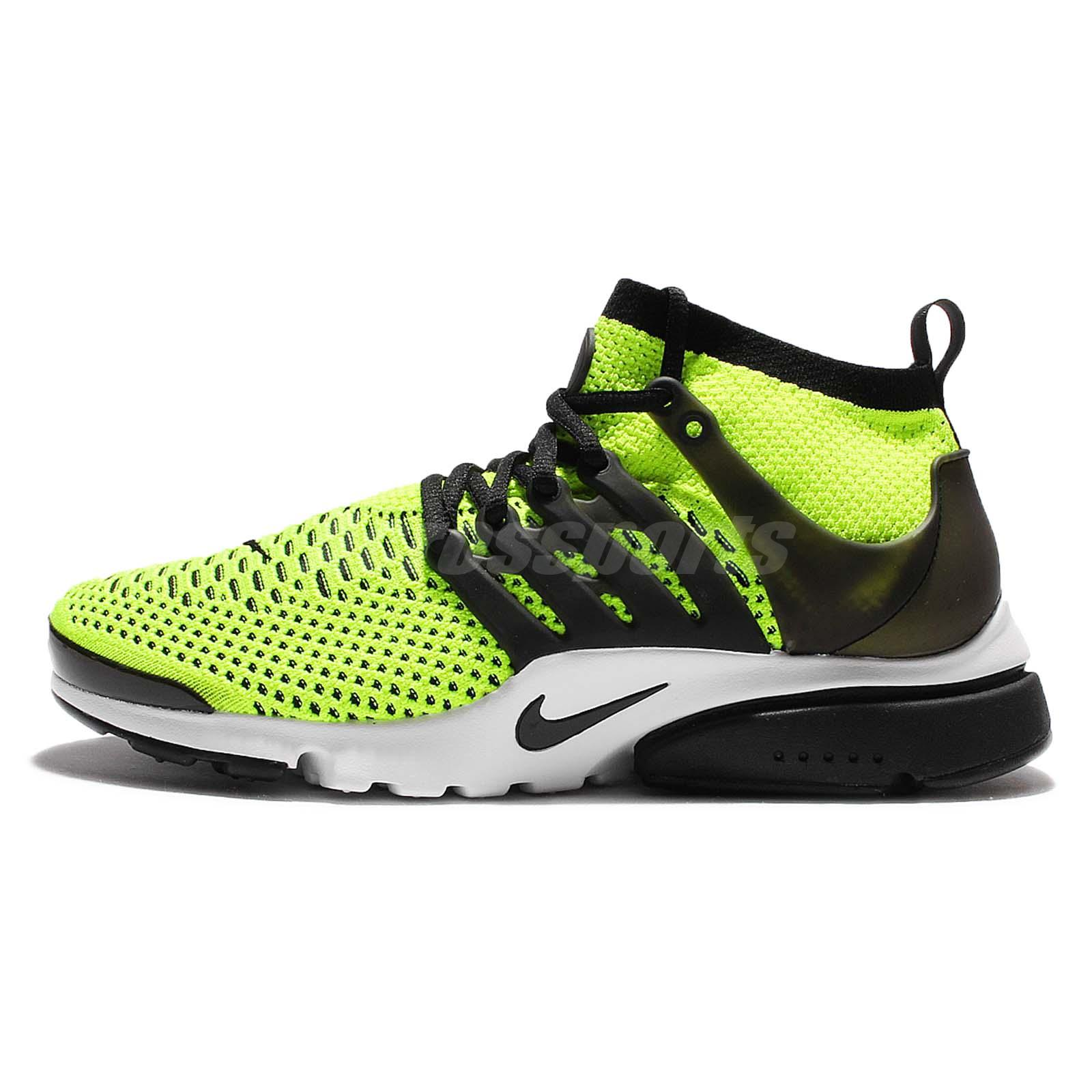Nike Air Presto Flyknit Ultra Black Volt Mens Running Shoes Sneakers 835570701