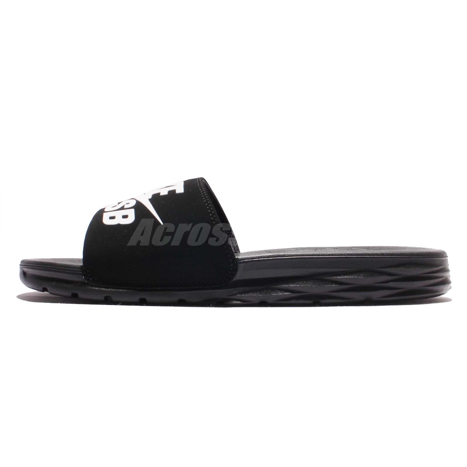 huge selection of 3bc88 0f65f ... Nike Benassi Solarsoft SB Black White Men Skateboarding Sandal Slides  840067-001 well known cdeab  NIKE AIR ...
