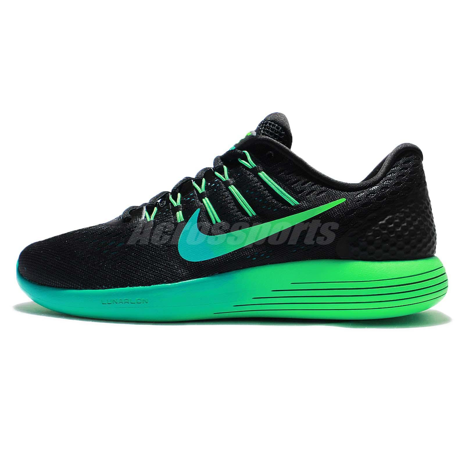 pretty nice 5921f 4e2cf ... ireland nike lunarglide 8 viii black green mens running shoes sneakers  843725 003 c9abe 24110