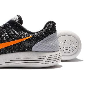 ... Nike Lunarglide 8 VIII Grey Orange Mens Running Shoes Sneakers 843725- 009 ... c767357543