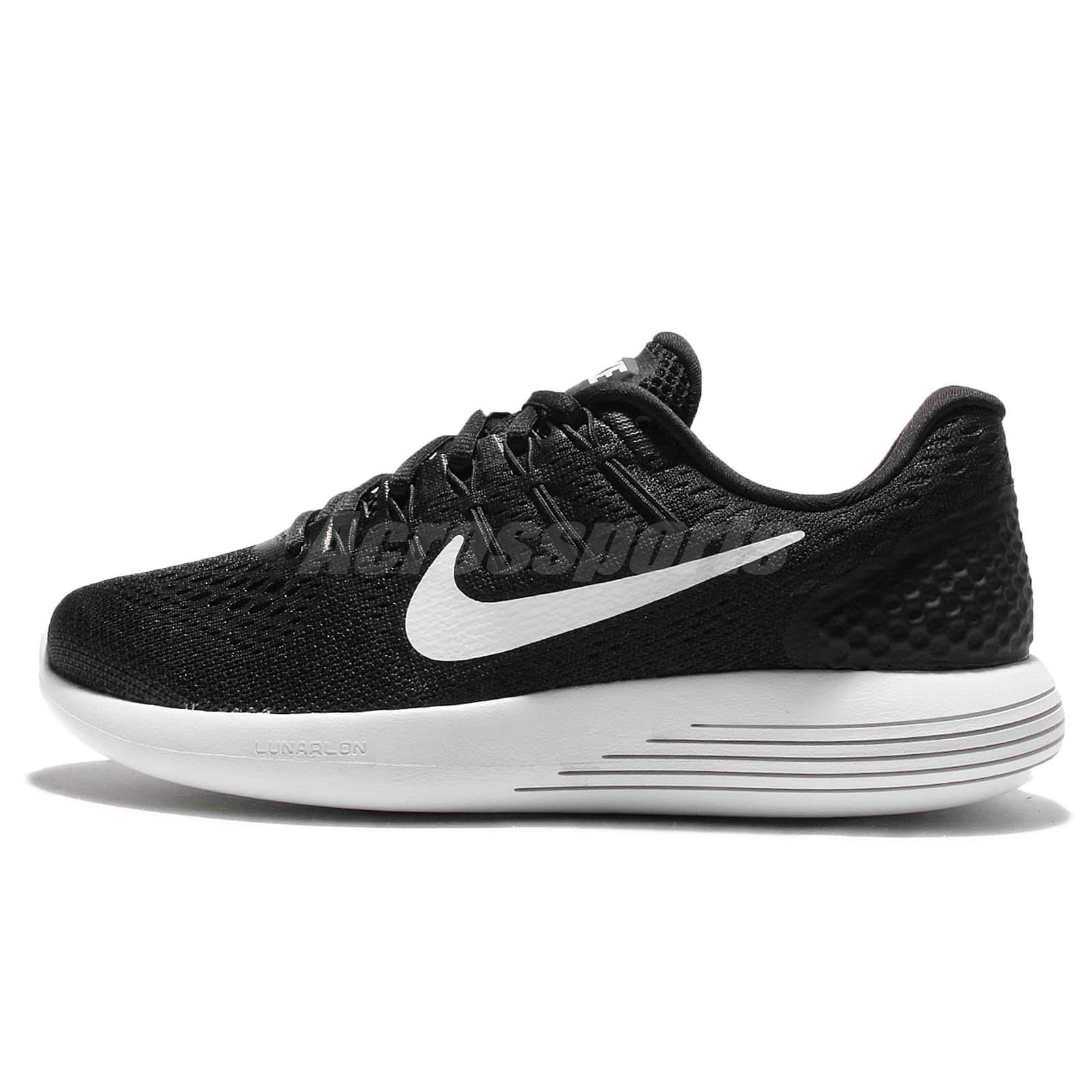 39687f5744a ... Wmns Nike LunarGlide 8 VIII Black White Womens Running Shoes Sneakers  843726-001 ...