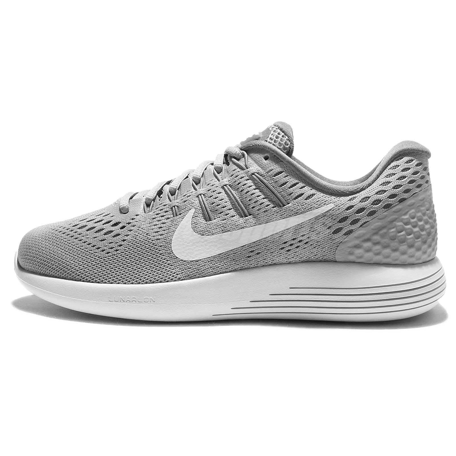 1ce8acdc75a4 ... Wmns Nike Lunarglide 8 VIII Grey White Womens Running Shoes Sneakers  843726-002 ...