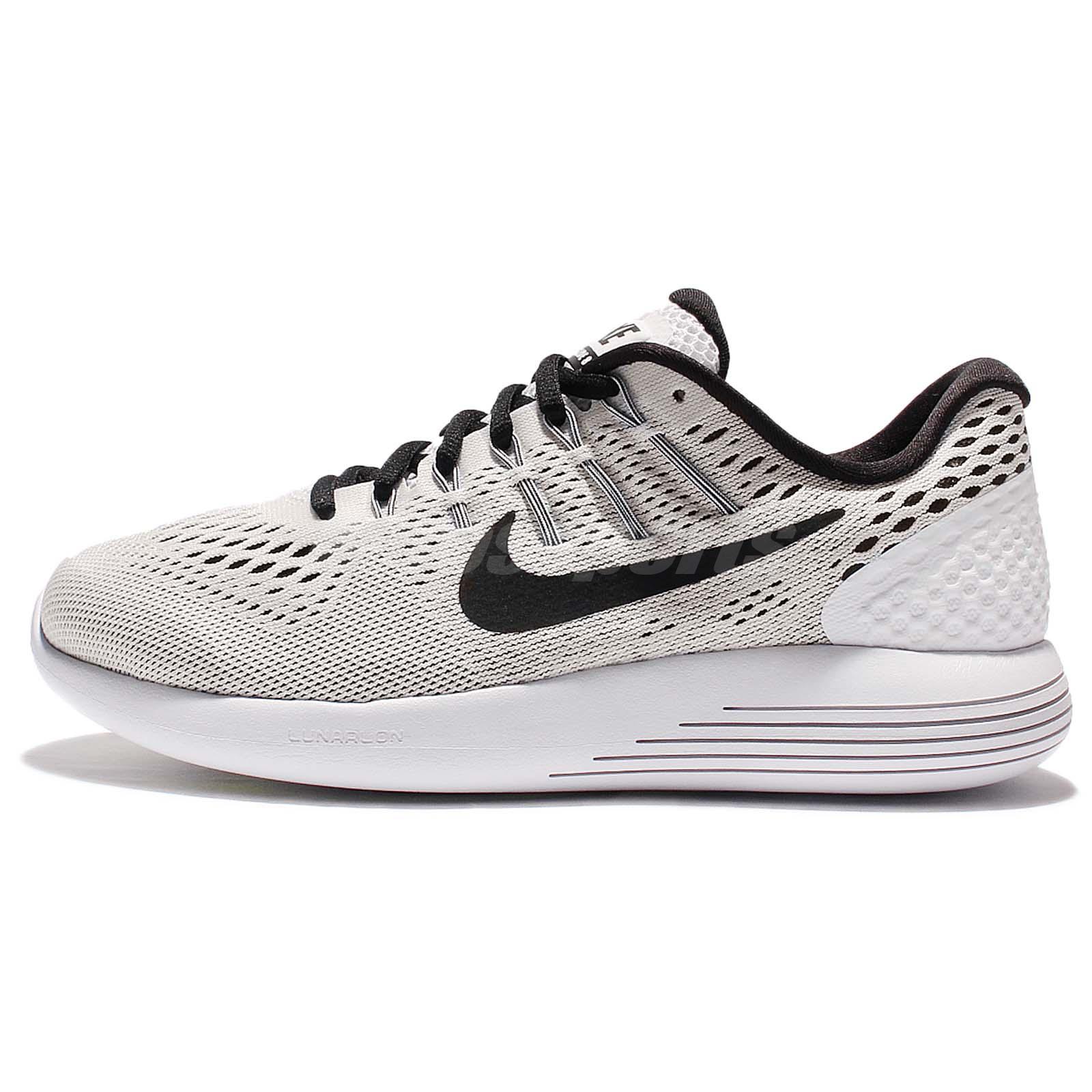 271a279b2c93 Nike Wmns Lunarglide 8 VIII White Black Women Running Shoes Sneakers 843726- 101