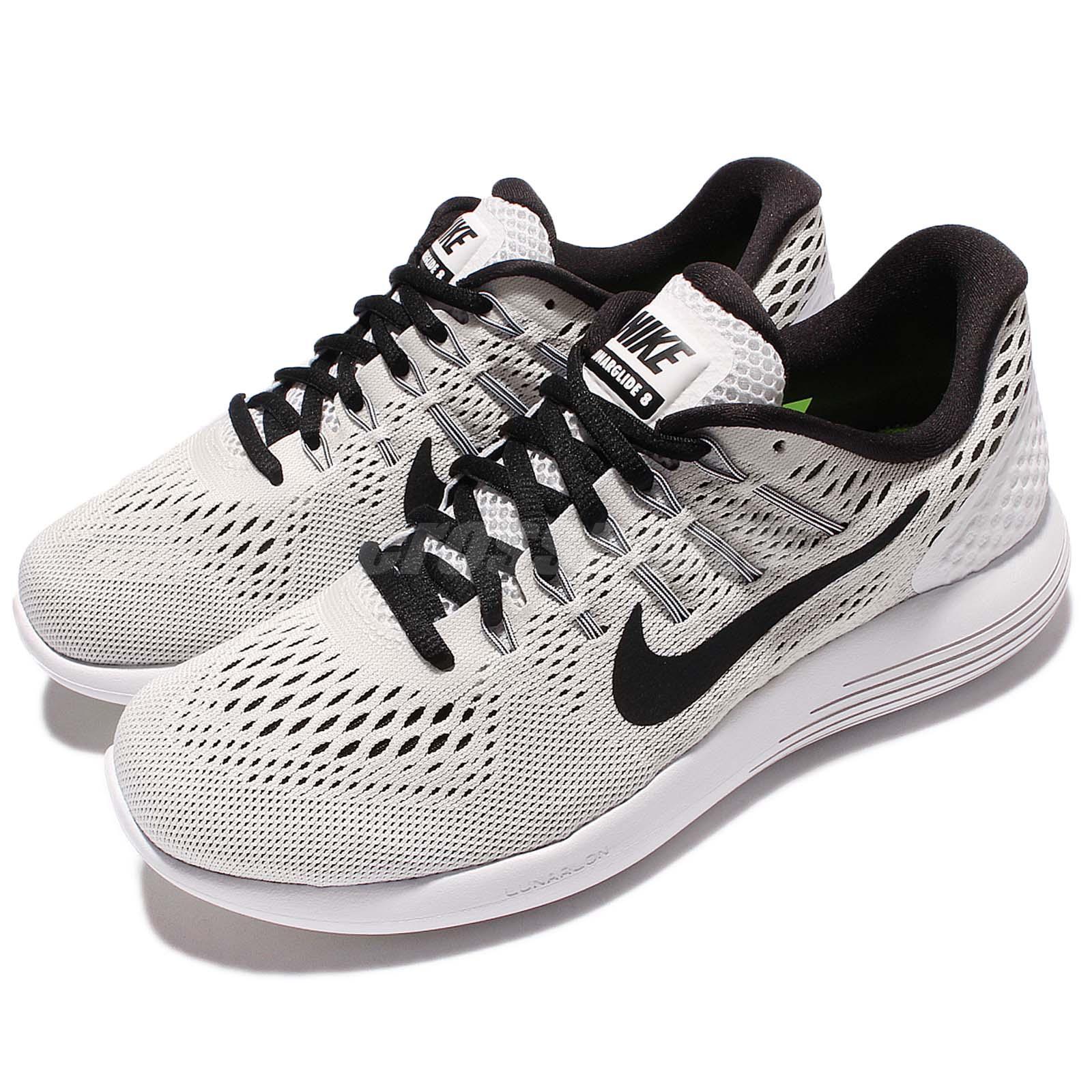 b4374d4a43f8 Nike Wmns Lunarglide 8 VIII White Black Women Running Shoes Sneakers ...