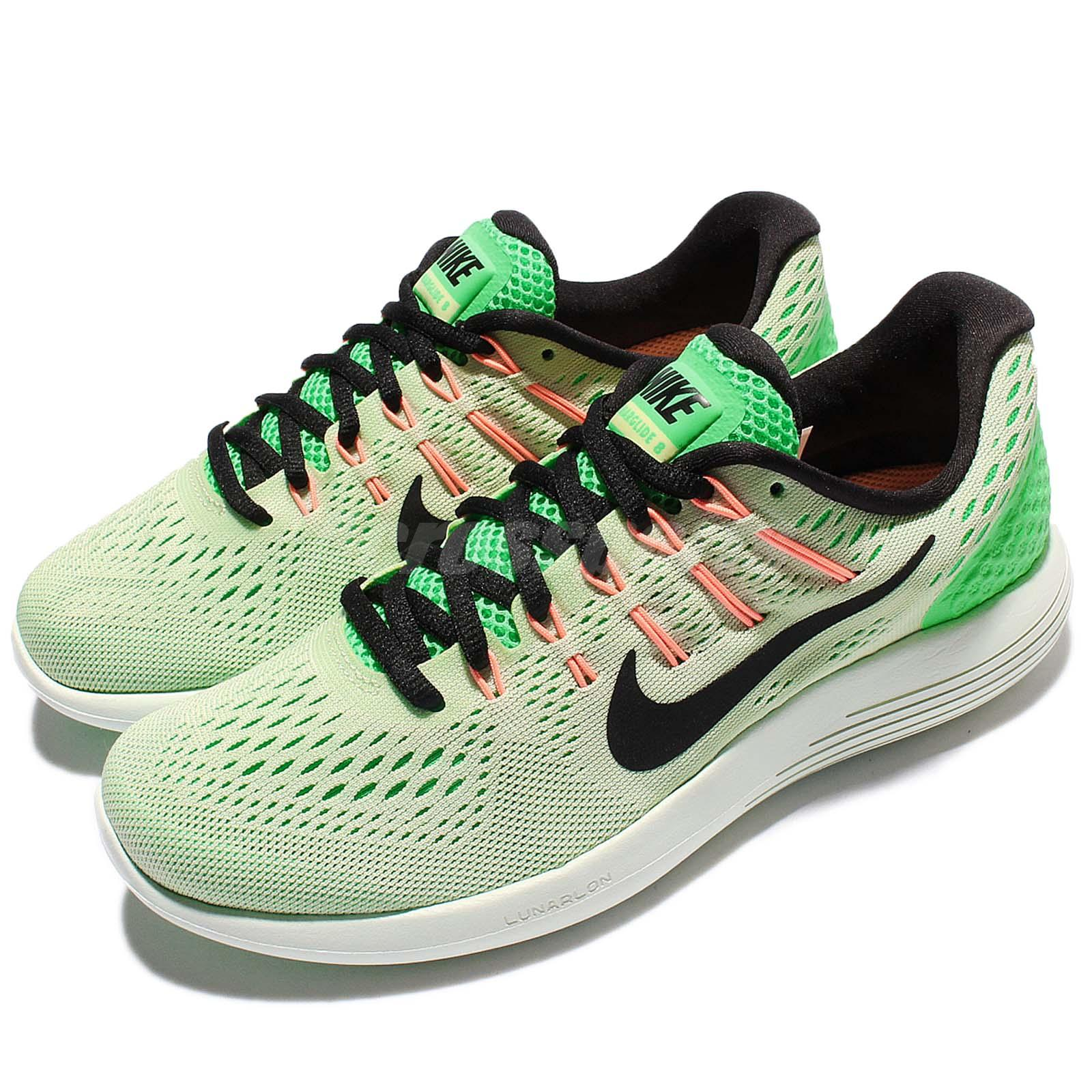 size 40 bb0c0 a1a29 Details about Wmns Nike Lunarglide 8 VIII Green Black Women Running Shoes  Sneakers 843726-302