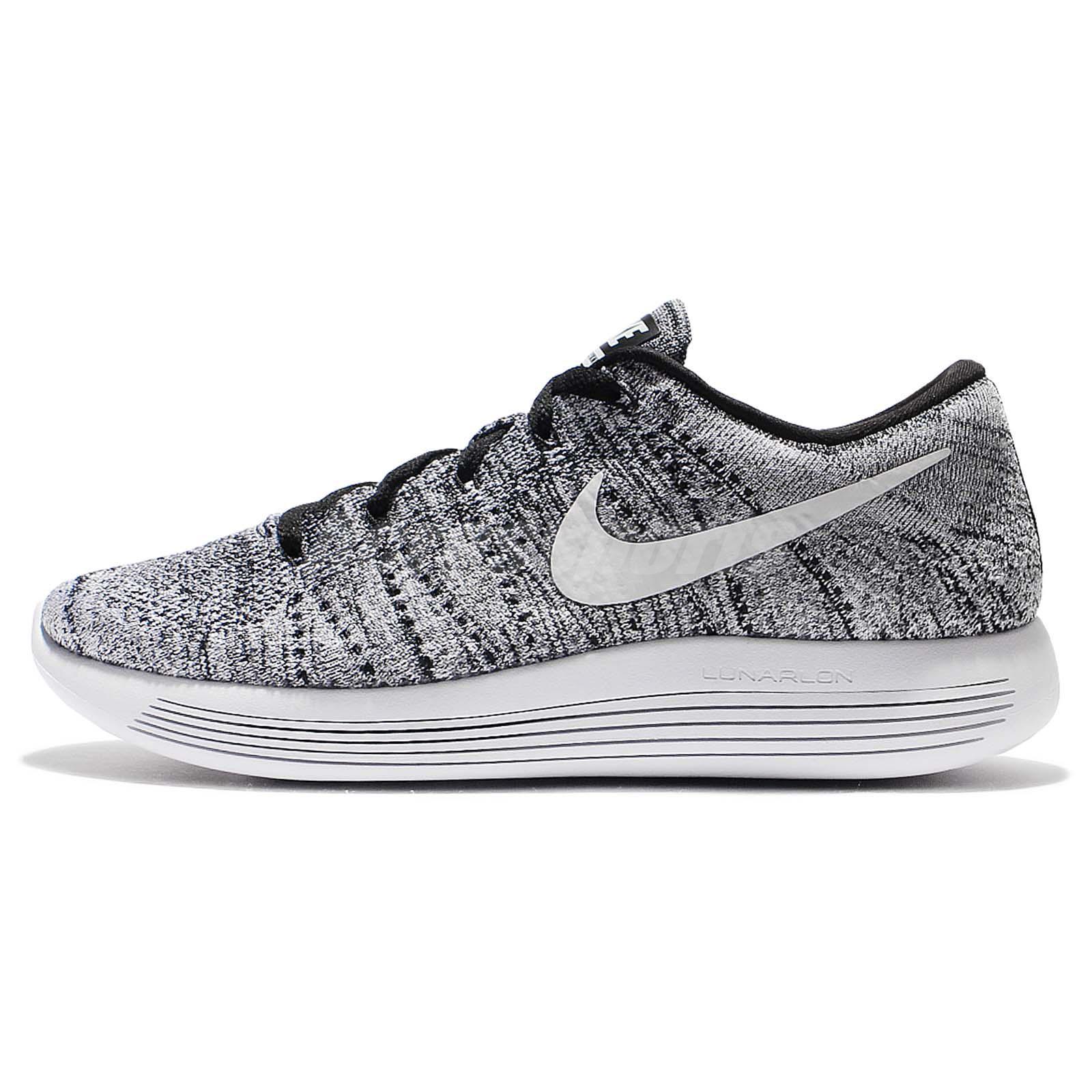 541399f95a6a C Nike Lunarepic Low Flyknit Oreo Black White Men Running Shoe Sneakers  843764-001 ...
