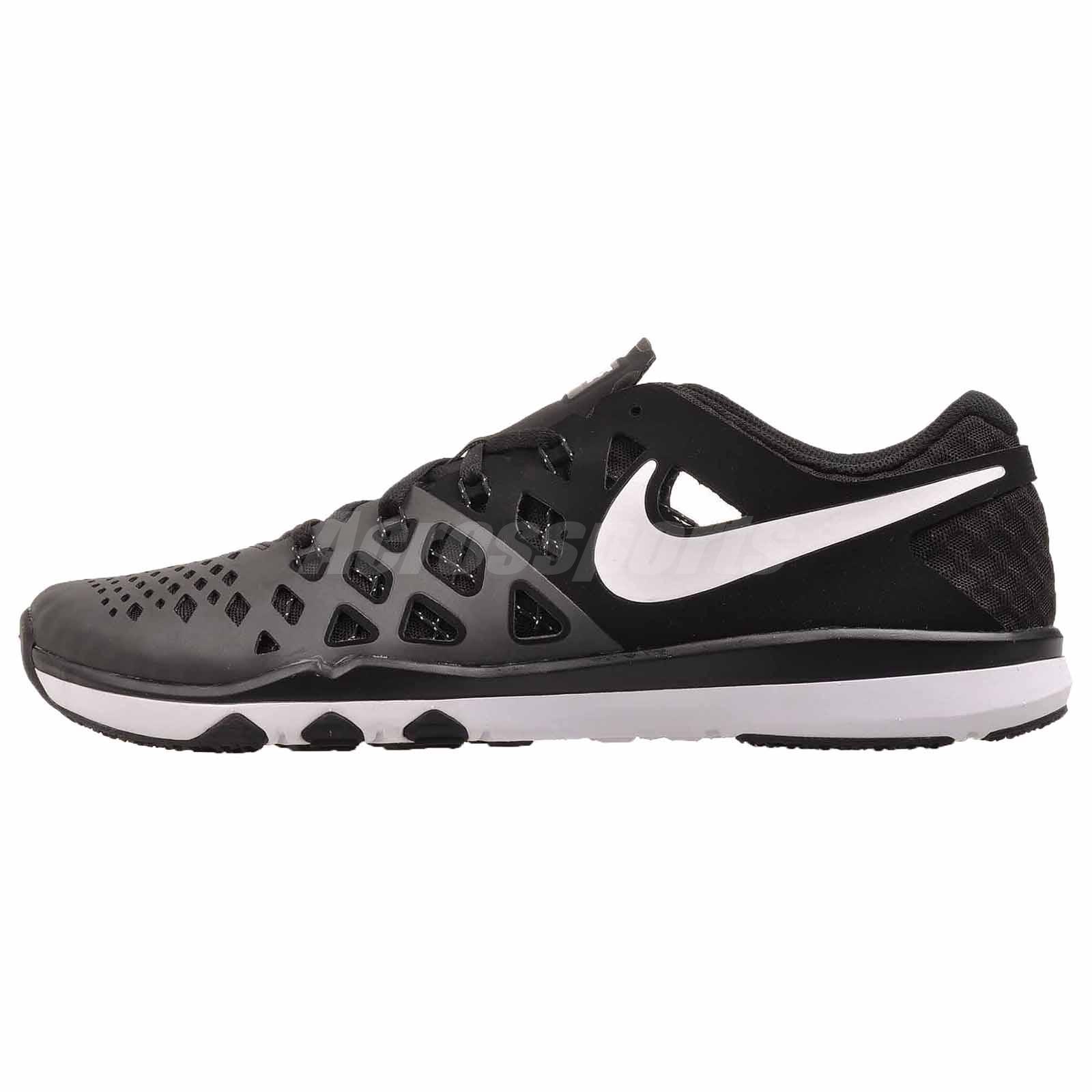 Nike Train Speed 4 Cross Training Mens Shoes Black White NWOB 843937-009