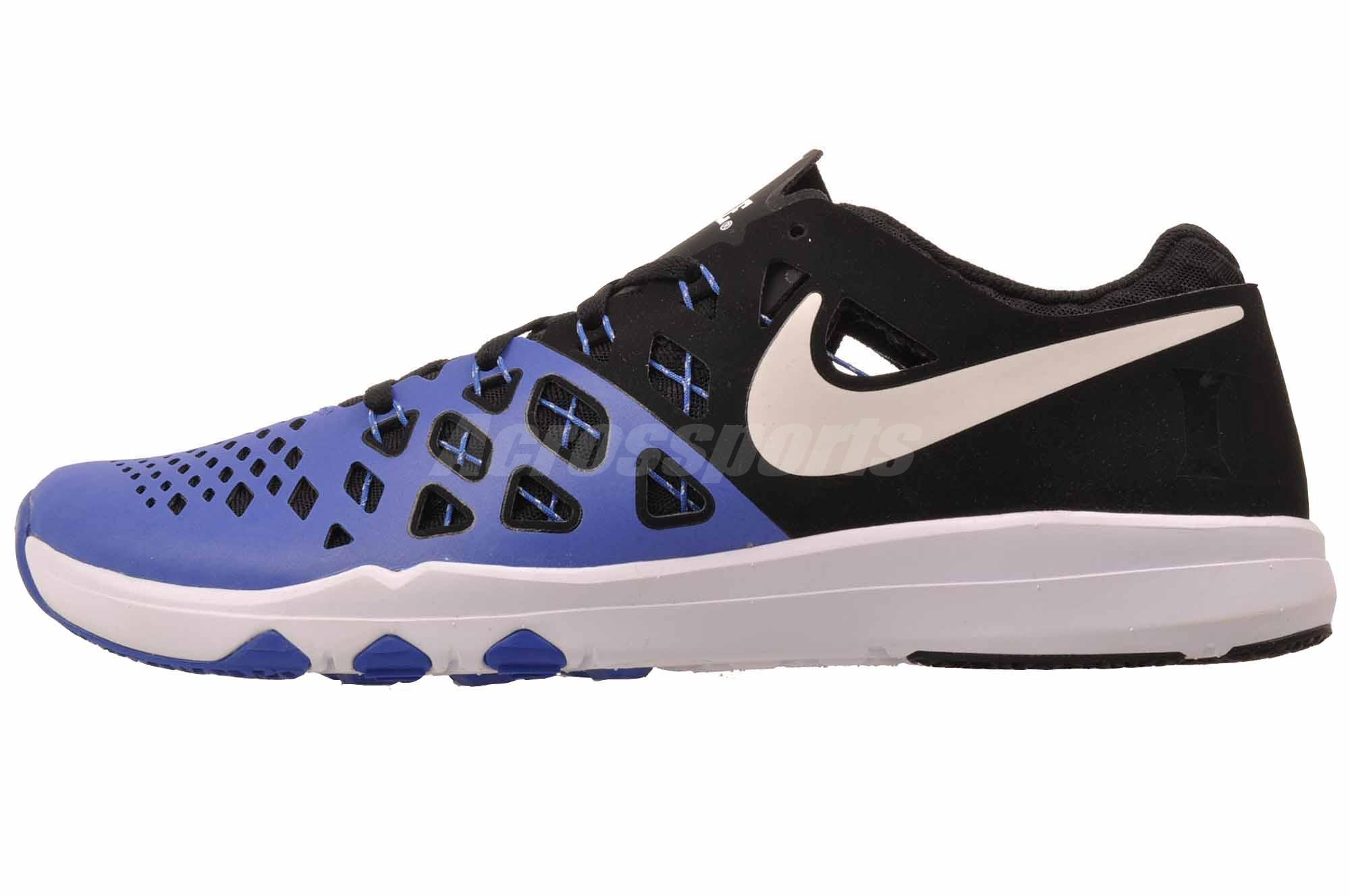 huge selection of 9f5b2 f0b3b Details about Nike Train Speed 4 AMP Cross Training Mens Shoes Blue Devils  Black 844102-410