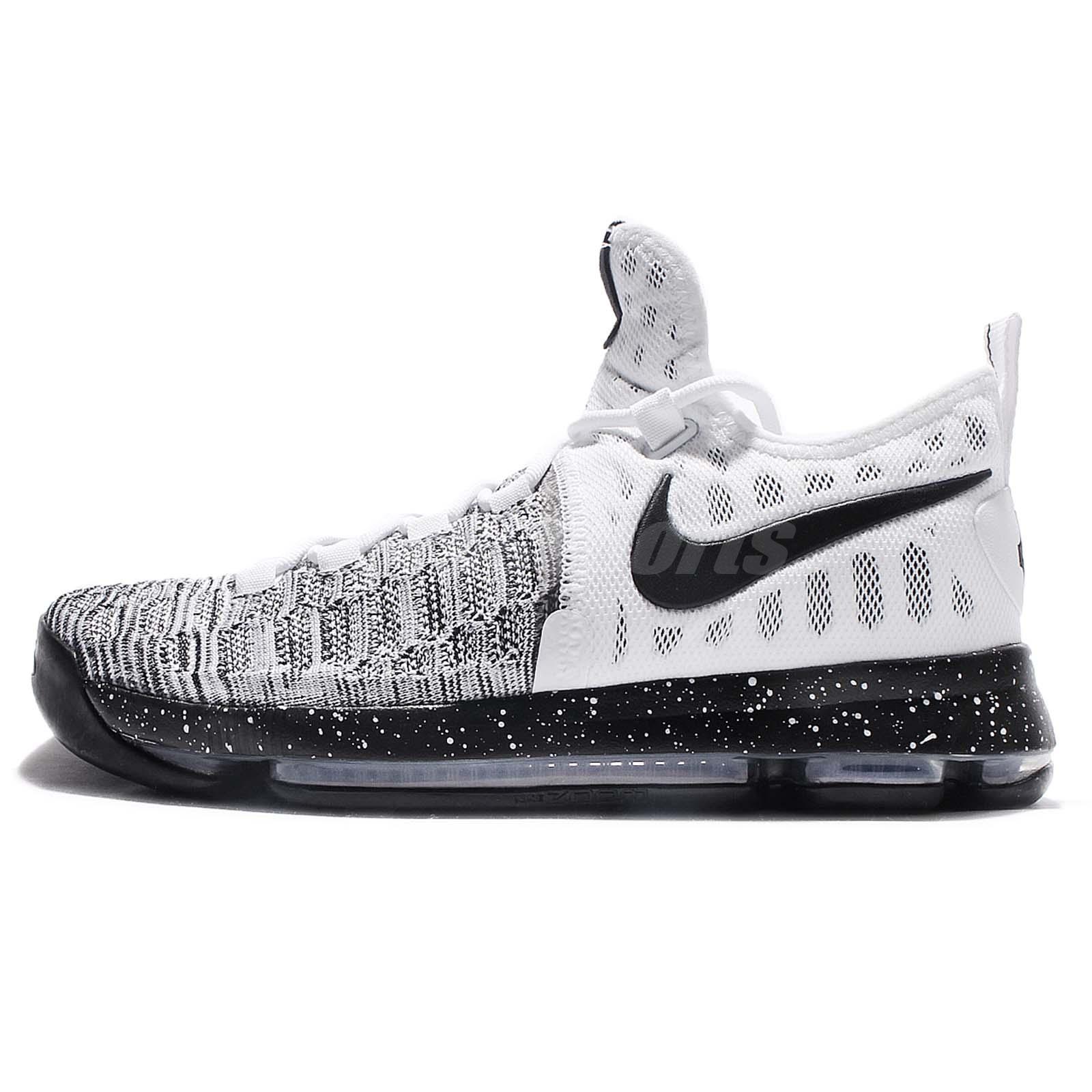 Nike Zoom KD 9 EP IX Kevin Durant White Black Men Basketball Shoes  844382-100