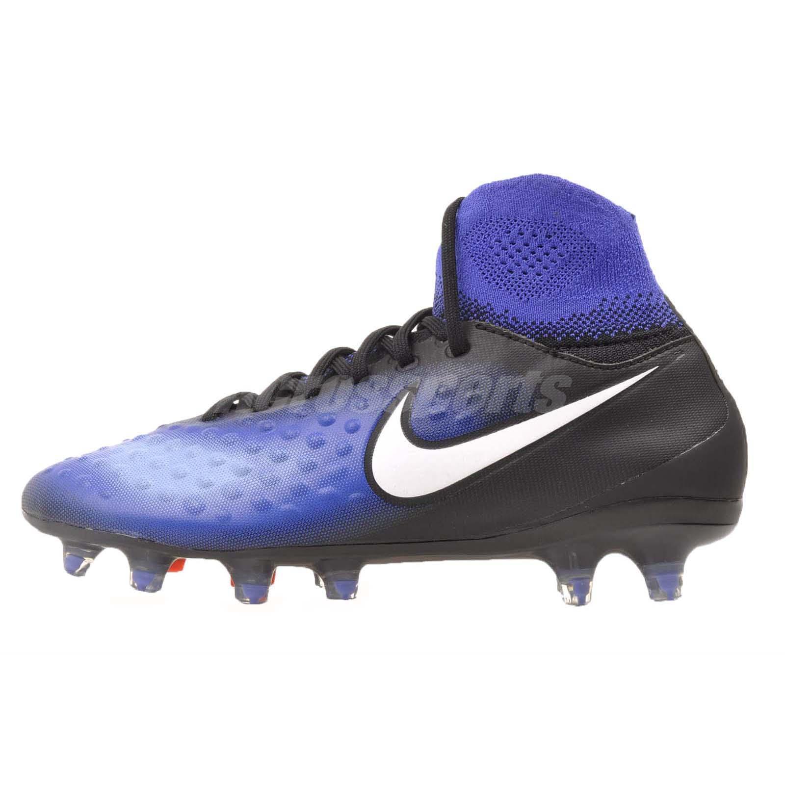 e1591e30e Nike JR Magista Obra II FG Kids Boys Girls Soccer Cleats Black Blue  844410-015