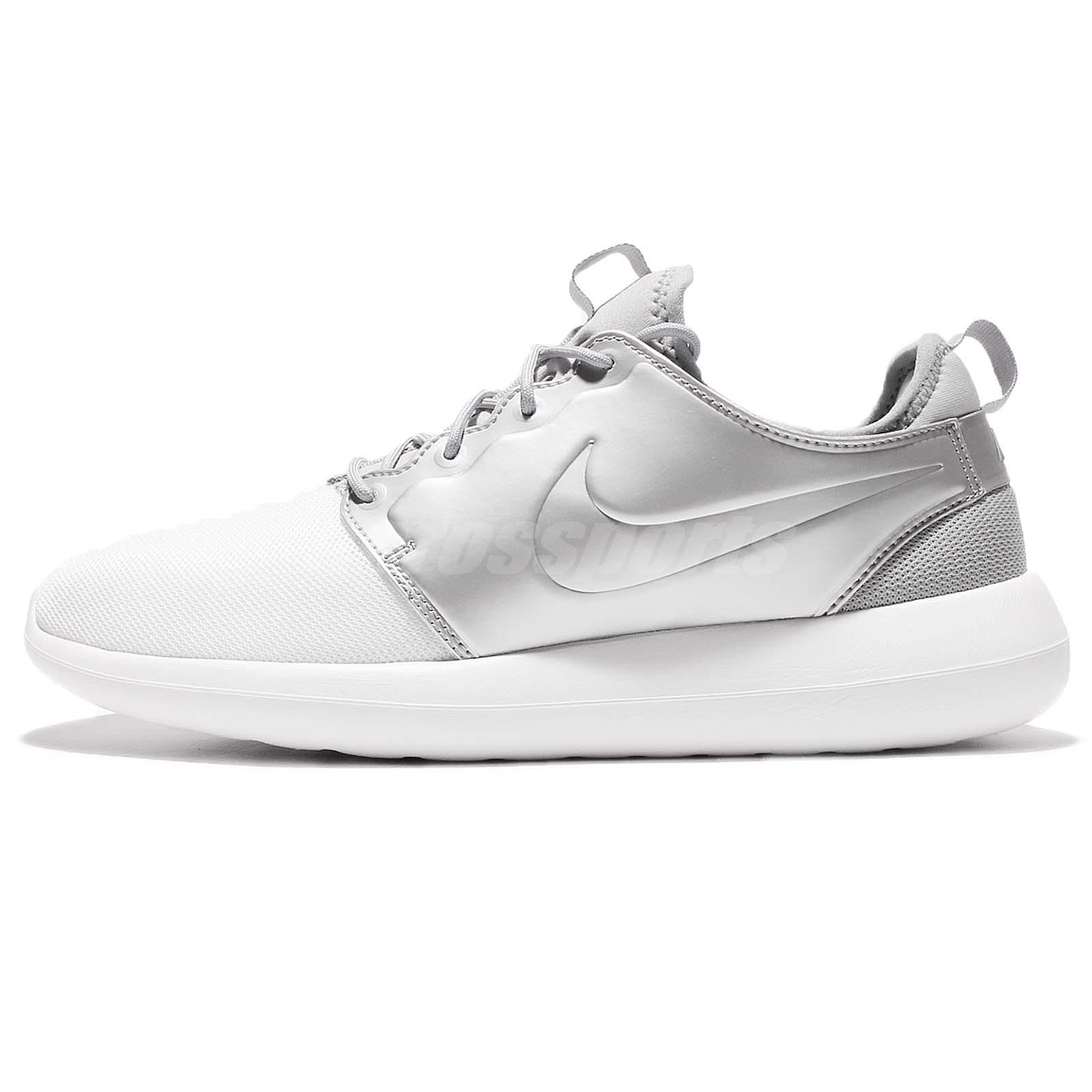 separation shoes 42b4c 56c98 Nike Roshe Two 2 Rosherun Metallic Silver Men Running Shoes Sneakers 844656- 100