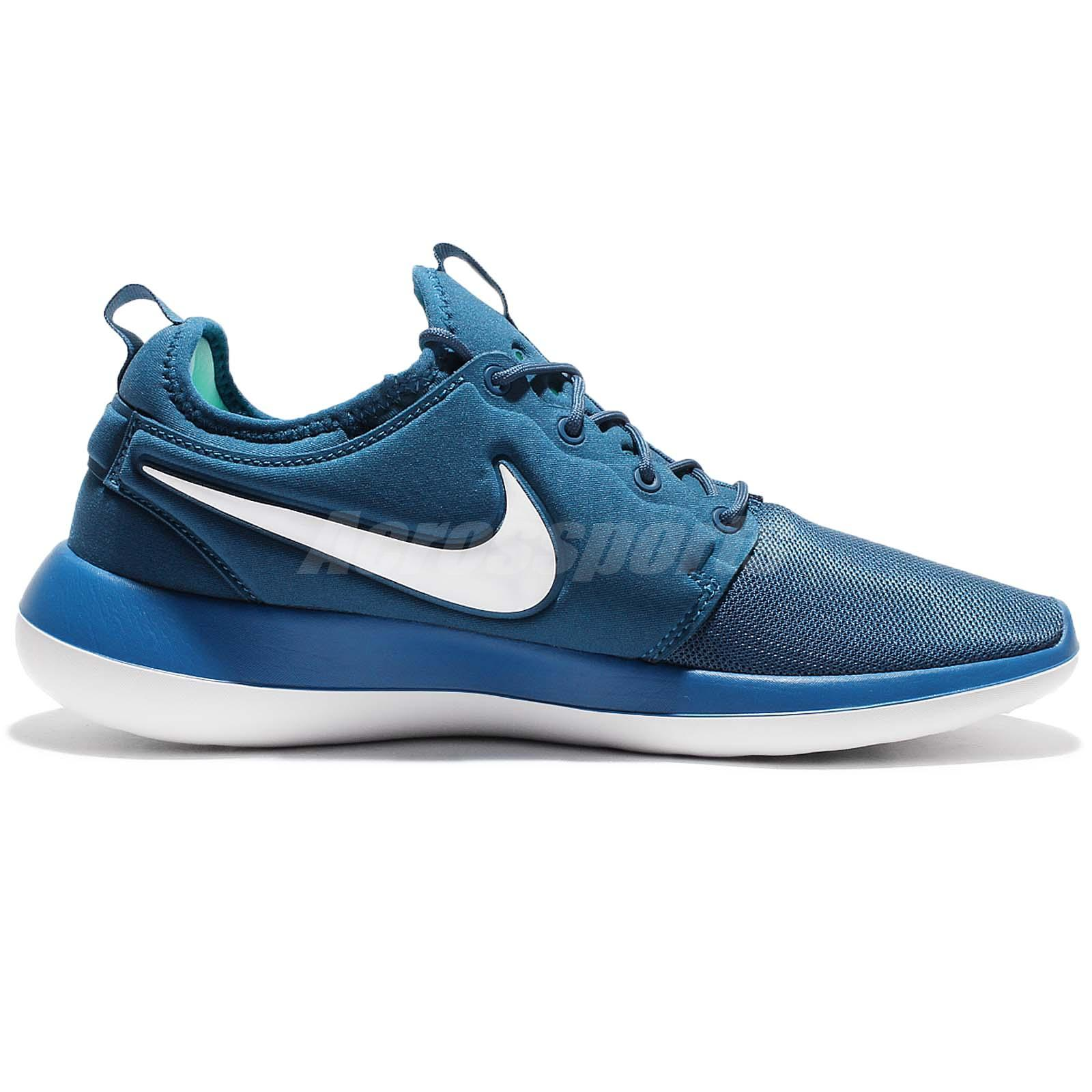 Nike Roshe Two 2 Rosherun Blue White Men Running Shoes Sneakers ... 605e44dff