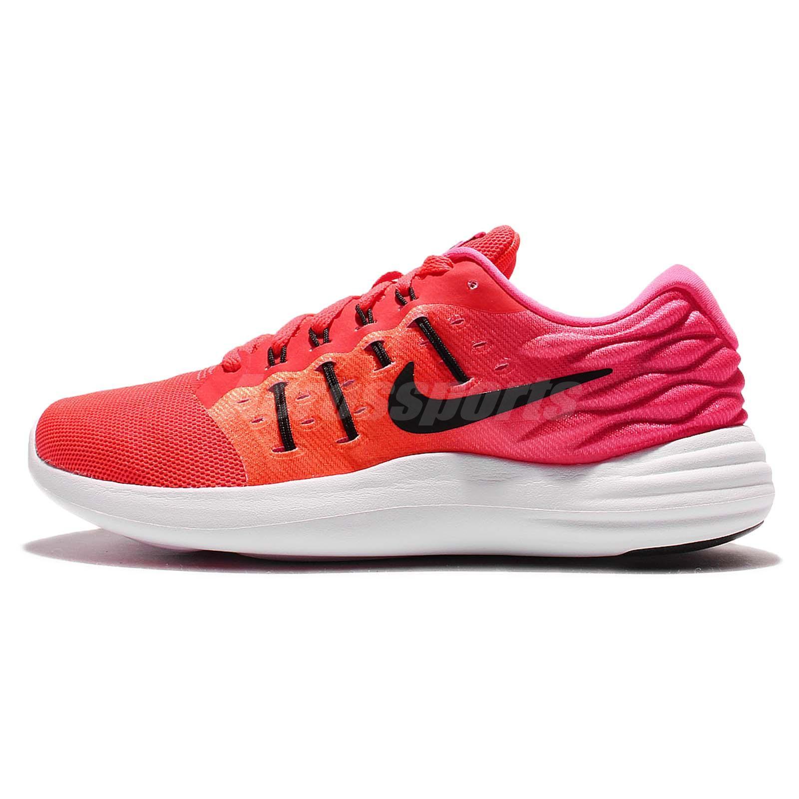 Nike Wmns LunarStelos Red Pink Womens Running Shoes Sneakers 844736-600