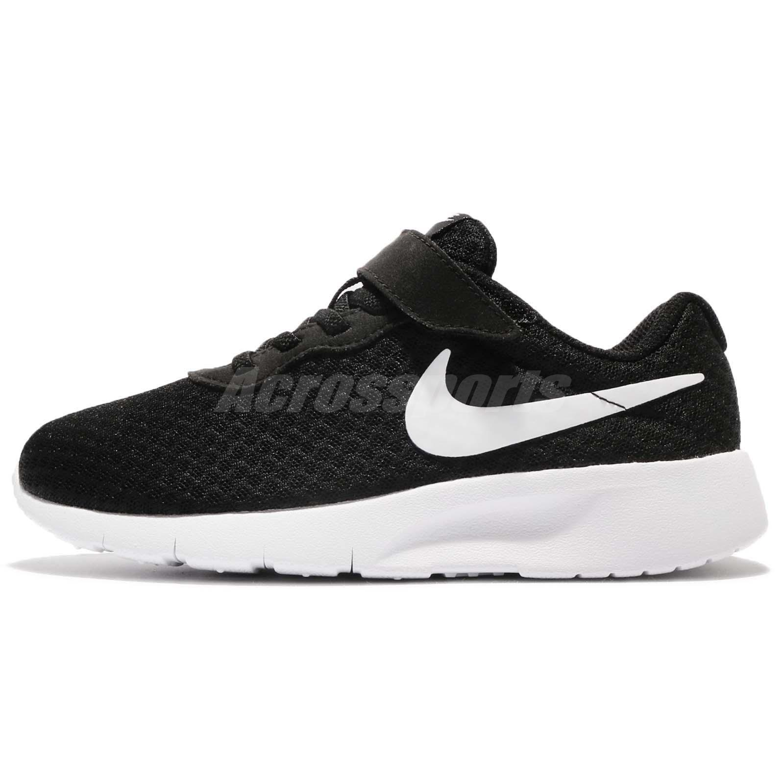 fe6ce12433 Nike Tanjun PSV Black White Preschool Boys Girls Running Shoe Sneaker  844868-011