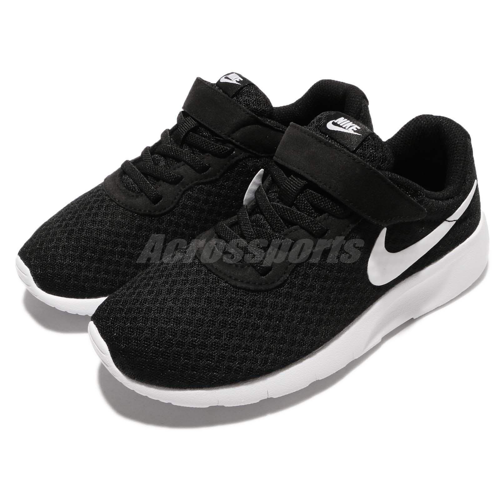 0b60444ca8 Details about Nike Tanjun PSV Black White Preschool Boys Girls Running Shoe  Sneaker 844868-011