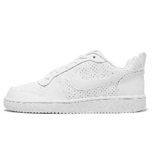 84245feb1 Nike Court Borough Low All Triple White Women Kids Junior GS PS TD ...