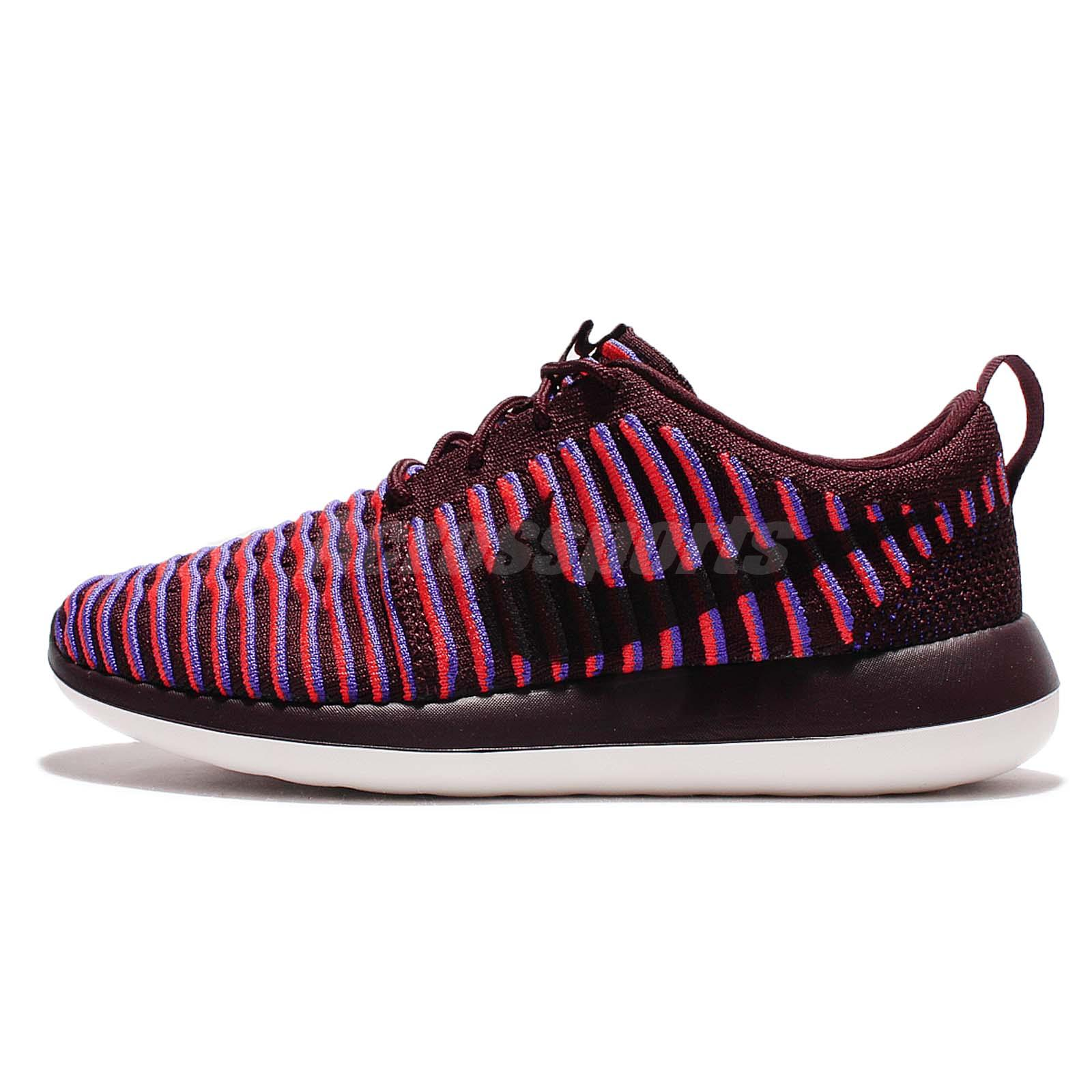 best website f42e8 af1c4 ... Wmns Nike Roshe Two Flyknit 2 Rosherun Red Purple Women Shoes Sneaker  844929-601
