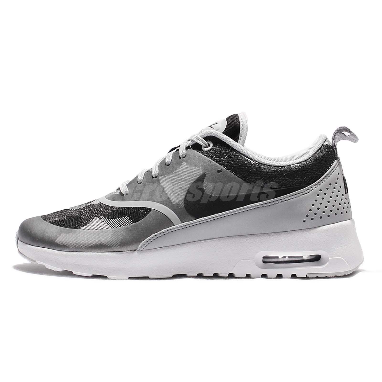 59ef346315 Wmns Nike Air Max Thea JCRD Grey Black Womens Running Shoes Sneakers  844955-002 ...