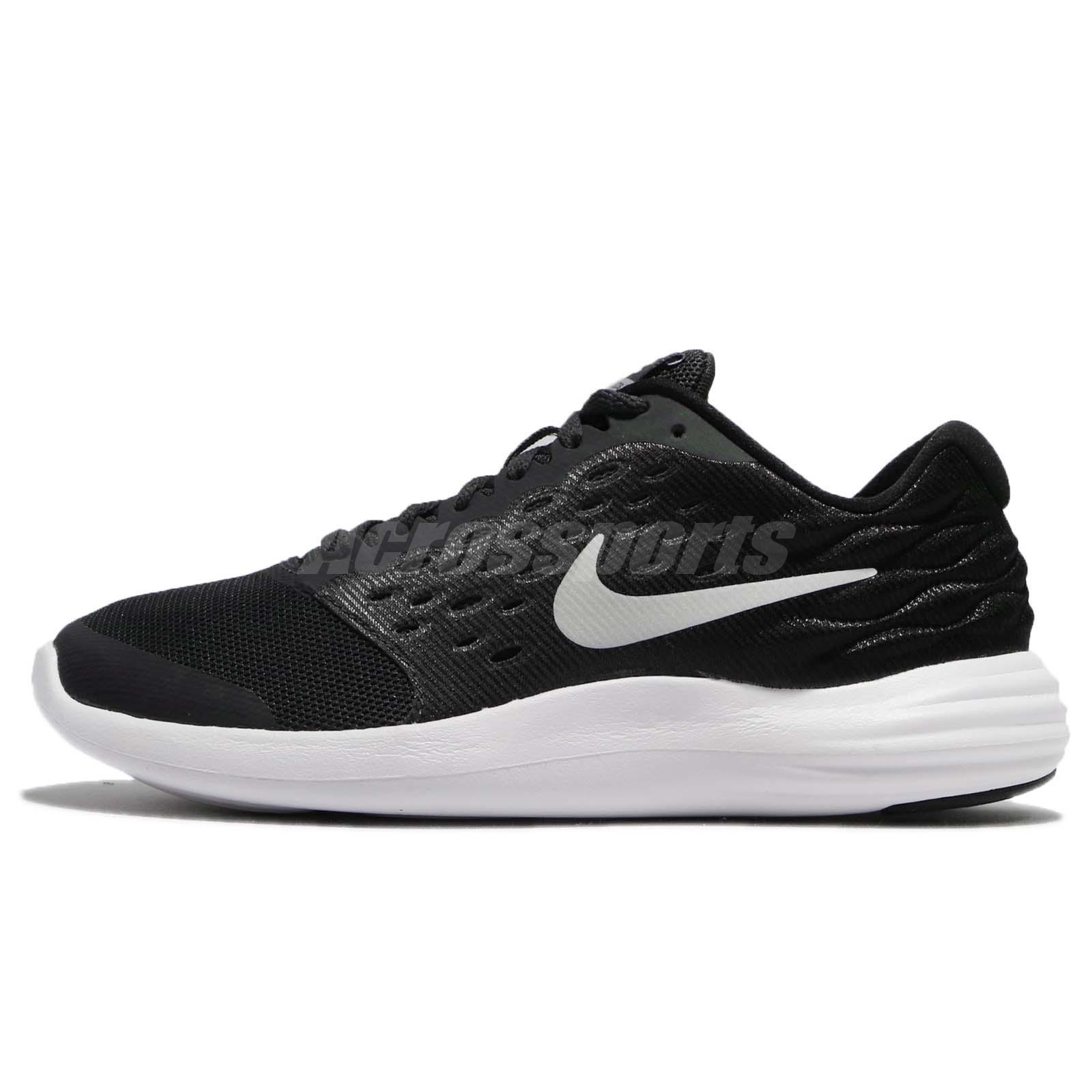 reputable site a6368 cb4ff Nike Lunarstelos GS Anthracite Silver Kids Women Running Shoe Sneaker  844969-001