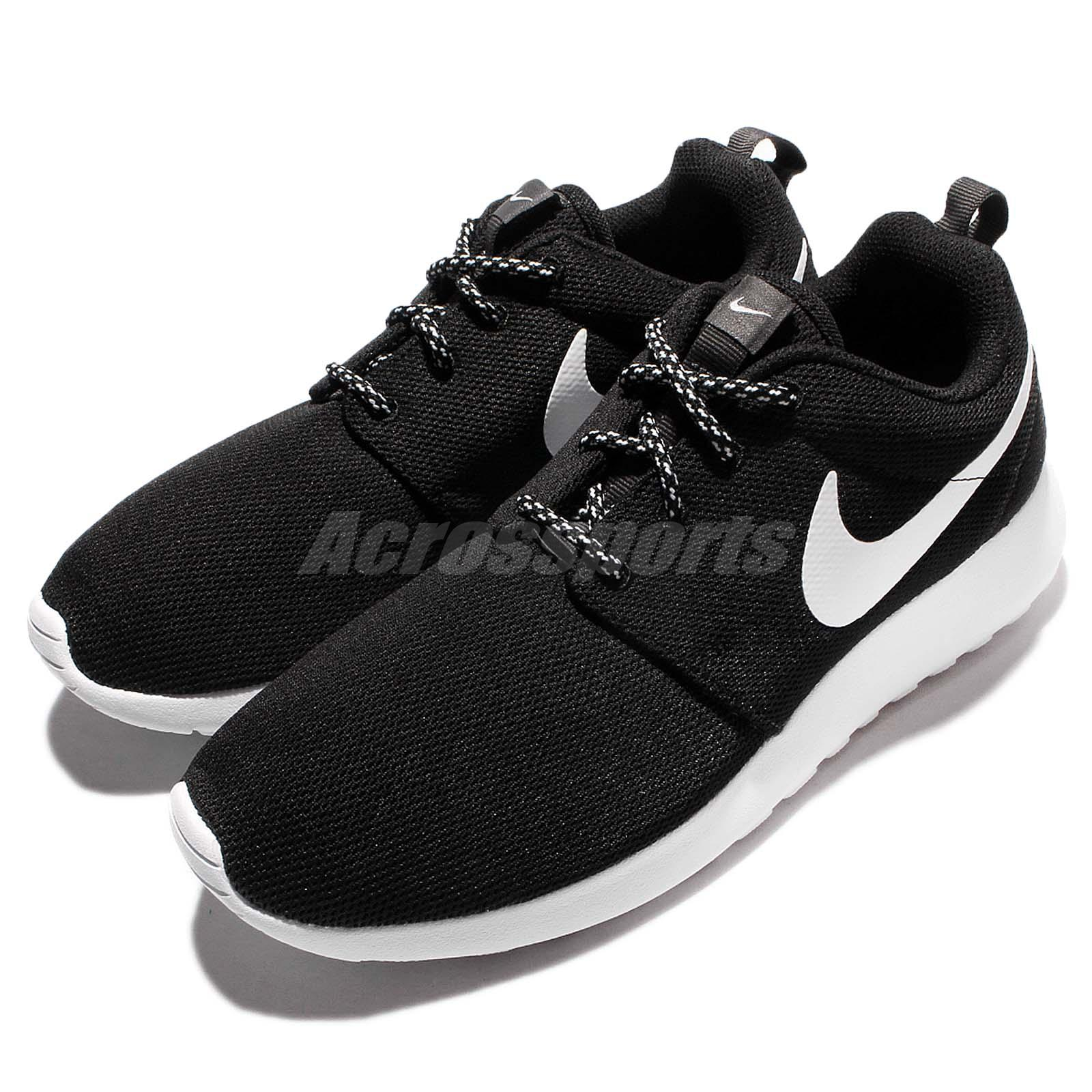 2ff0194f27ba Details about Wmns Nike Roshe One Black White Rosherun Women Running Shoes  Sneakers 844994-002