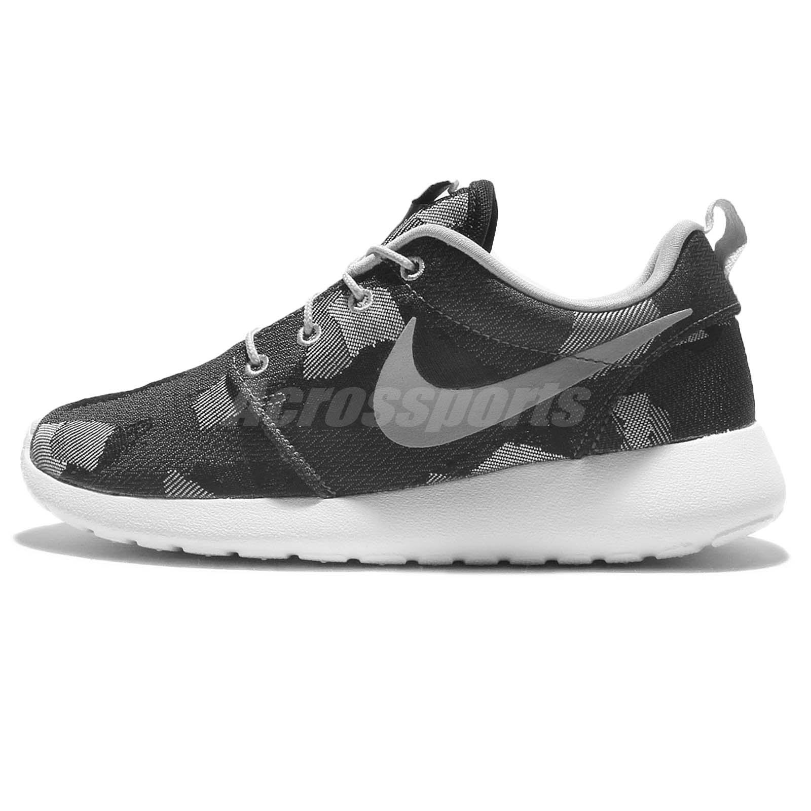 huge selection of 36dfd 6f0c8 ... Wmns Nike Roshe One JCRD Print Jacquard Grey Camo Women Running Shoes  845009-001