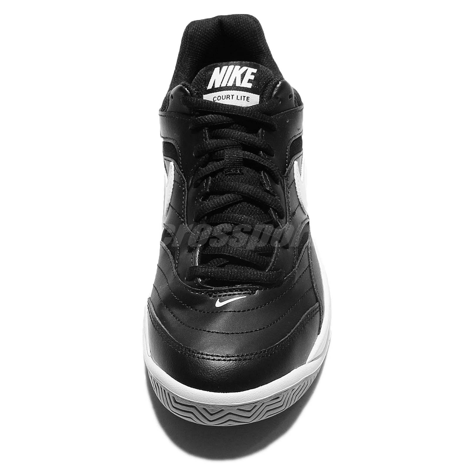 super popular f17bd 85374 Nike Court Lite Black White Mens Tennis Shoes Sneakers Trainers ...
