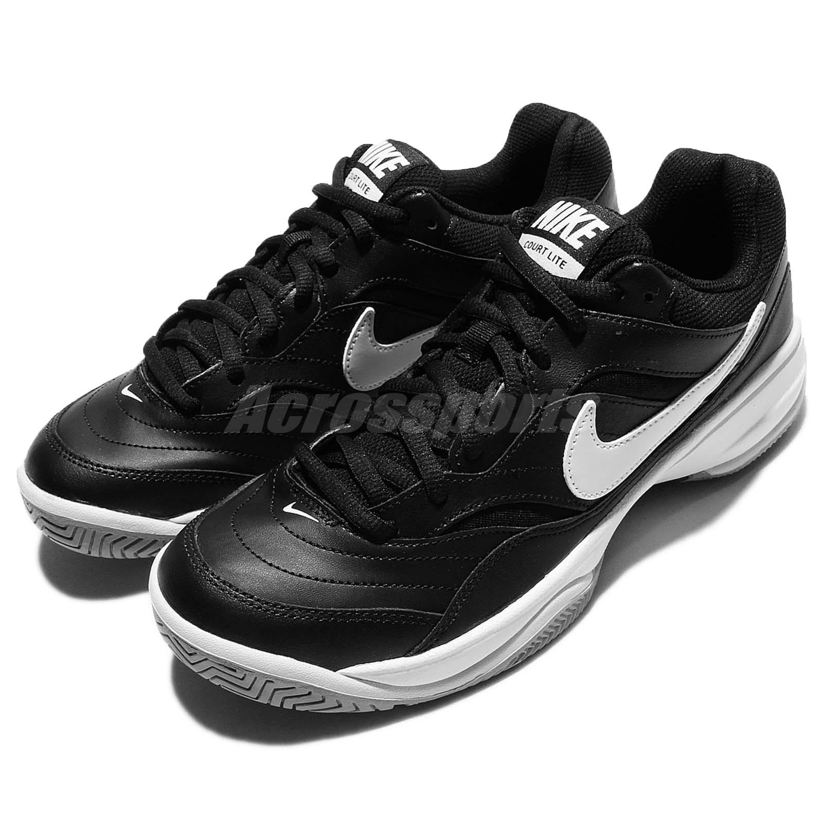 super popular dda21 508d4 Nike Court Lite Black White Mens Tennis Shoes Sneakers Trainers ...