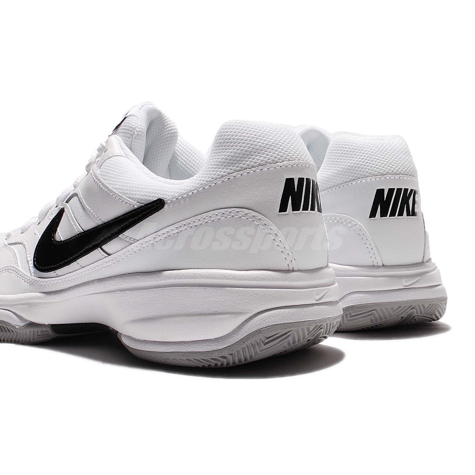Nike Court Lite White Black Mens Tennis Shoes Sneakers ...