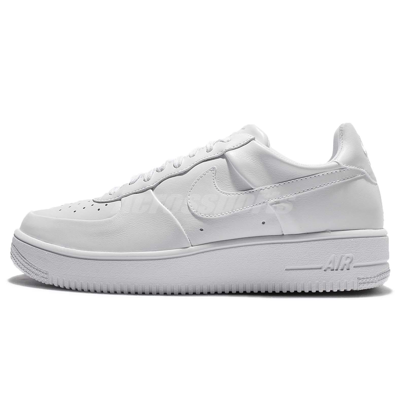 ... Nike Air Force 1 Ultraforce LTHR Leather Triple White Mens Casual AF1  845052-100 ... 22c0cbb0c