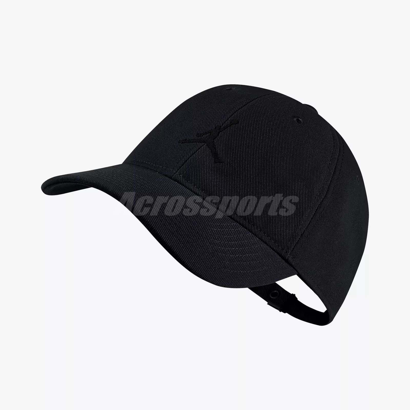 77e136a55a6d1 Details about Nike Jordan Jumpman Floppy H86 Adjustable Hat Cap Heritage  Gym Black 847143-010