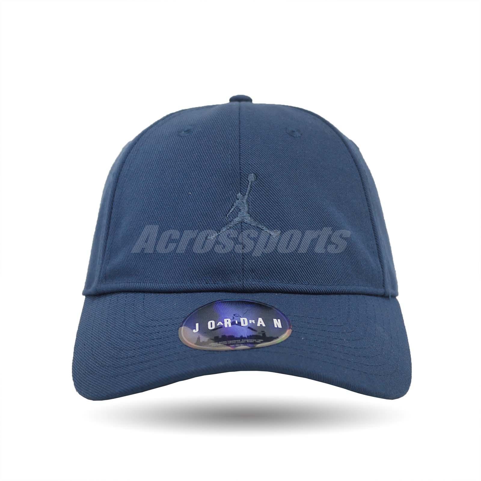 76f3dede9dfbe Details about Nike Jordan Jumpman Floppy H86 Adjustable Hat Heritage Gym Cap  Blue 847143-414