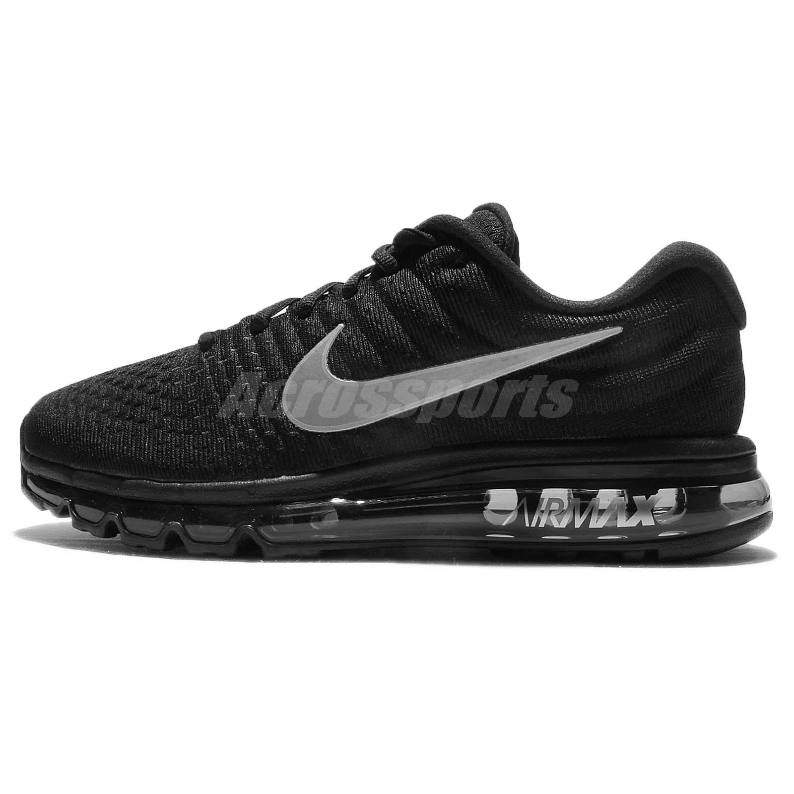 nike air max 2017 black grey men running shoes sneakers. Black Bedroom Furniture Sets. Home Design Ideas
