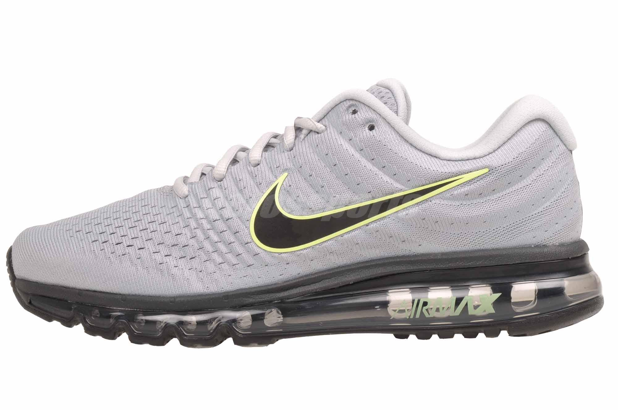 Details about Nike Air Max 2017 Running Mens Shoes Wolf Grey 849559 012