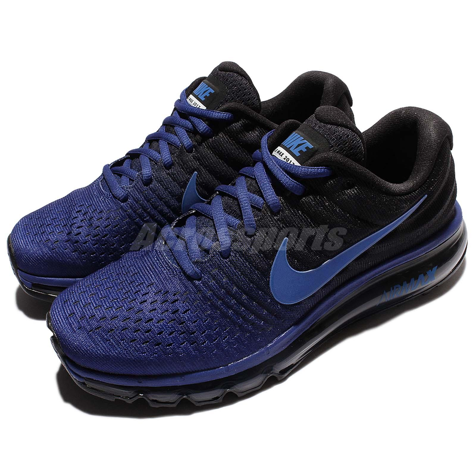 Details about Nike Air Max 2017 Blue Black Men Running Shoes Sneakers  Trainers 360 849559-401
