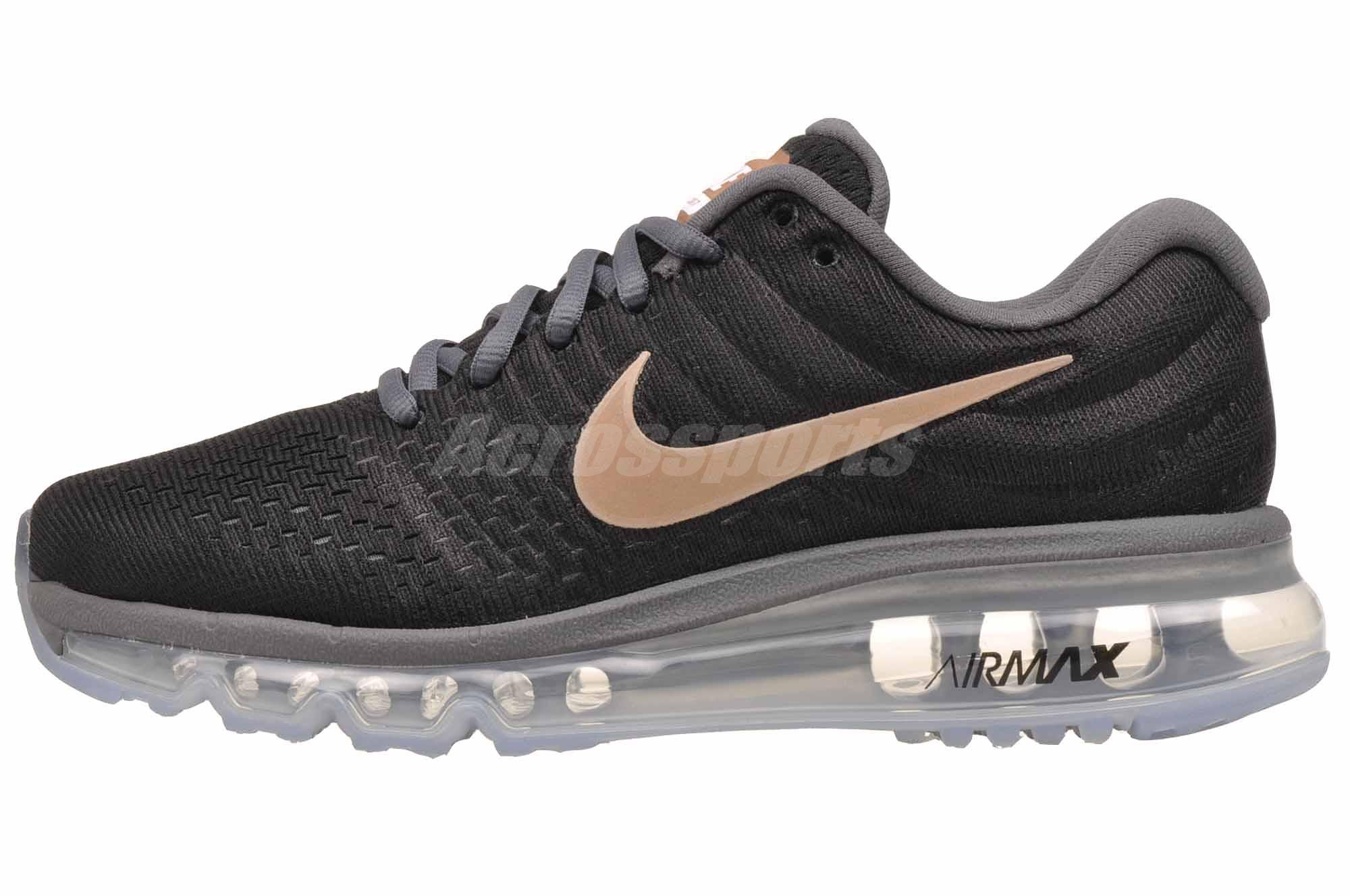 new arrival ad86b e754a Details about Nike Wmns Air Max 2017 Running Womens Shoes Black Bronze NWOB  849560-008