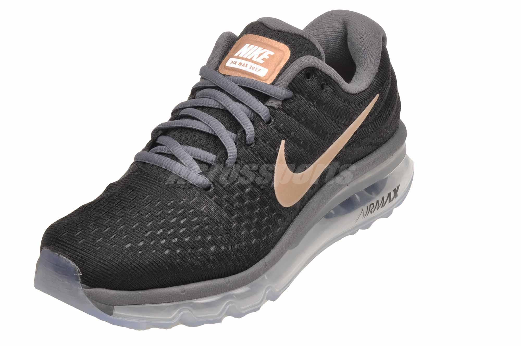 size 40 72d78 8351a Nike Wmns Air Max 2017 Running Womens Shoes Black Bronze NWOB 849560 ...