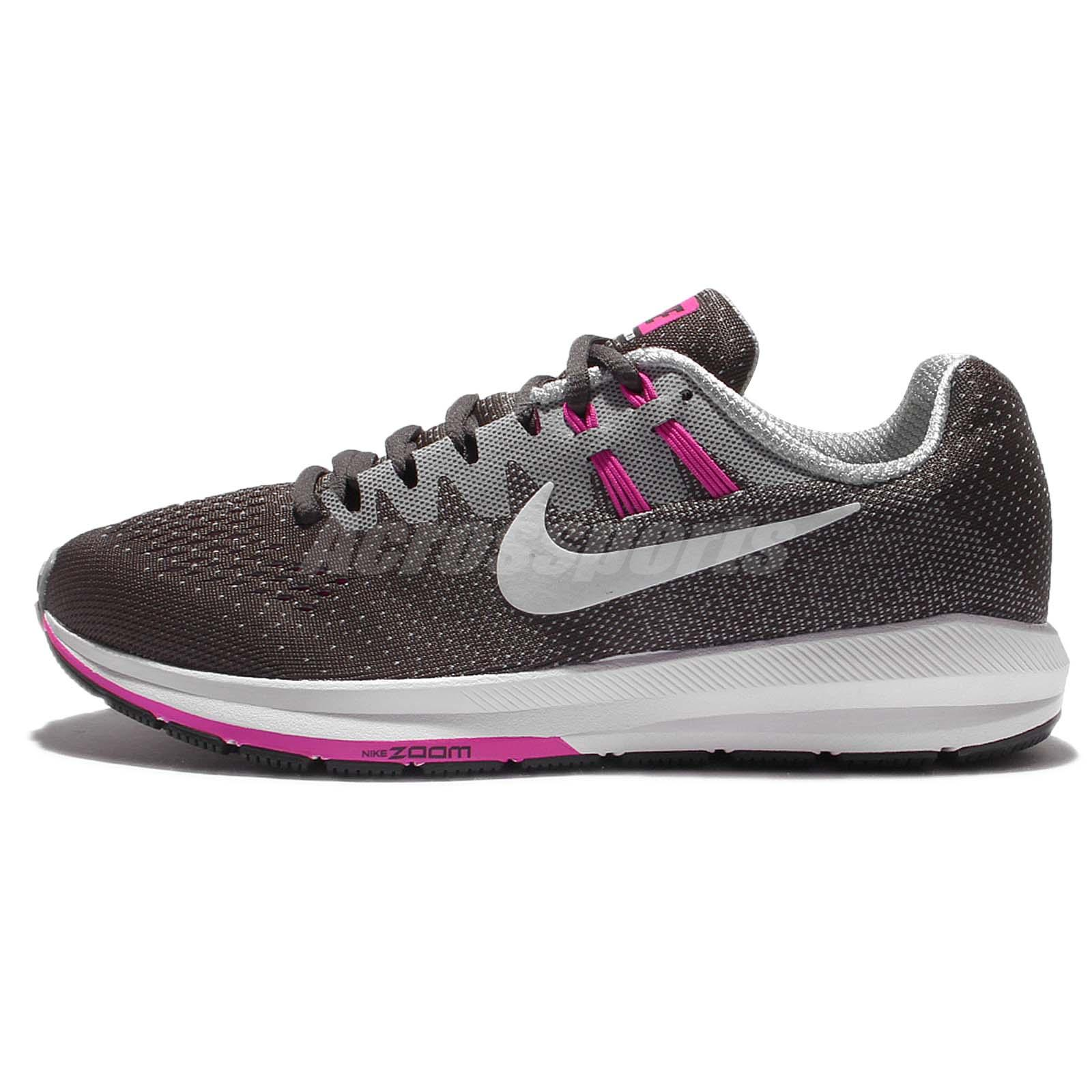 626a2613d0fb3 Nike Wmns Air Zoom Structure 20 Grey Fire Pink Women Running Shoes  849577-006