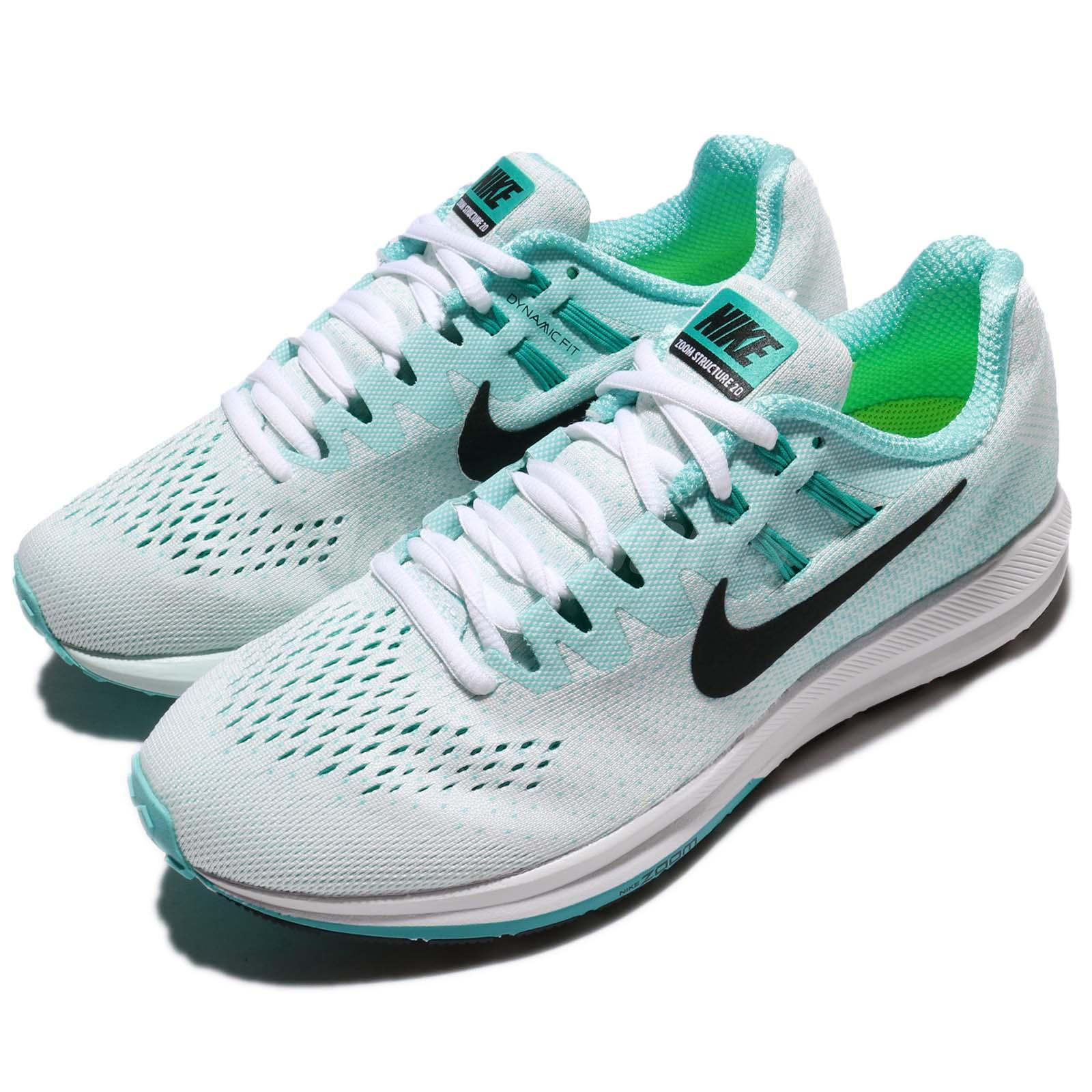 bc49c49c9c2e2 Details about Wmns Nike Air Zoom Structure 20 White Green Women Running  Shoes 849577-101