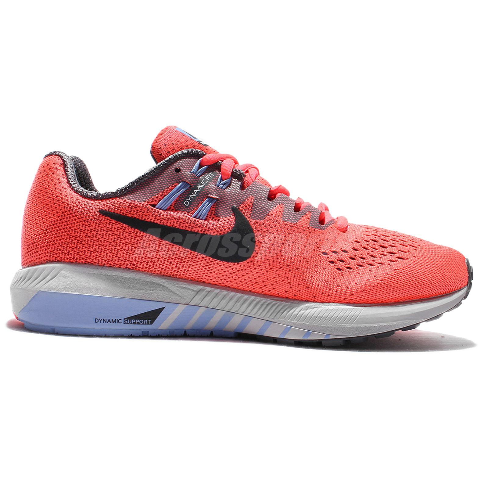 Wmns Nike Air Zoom Structure 20 Hot Punch Black Women Running Shoes 849577-600