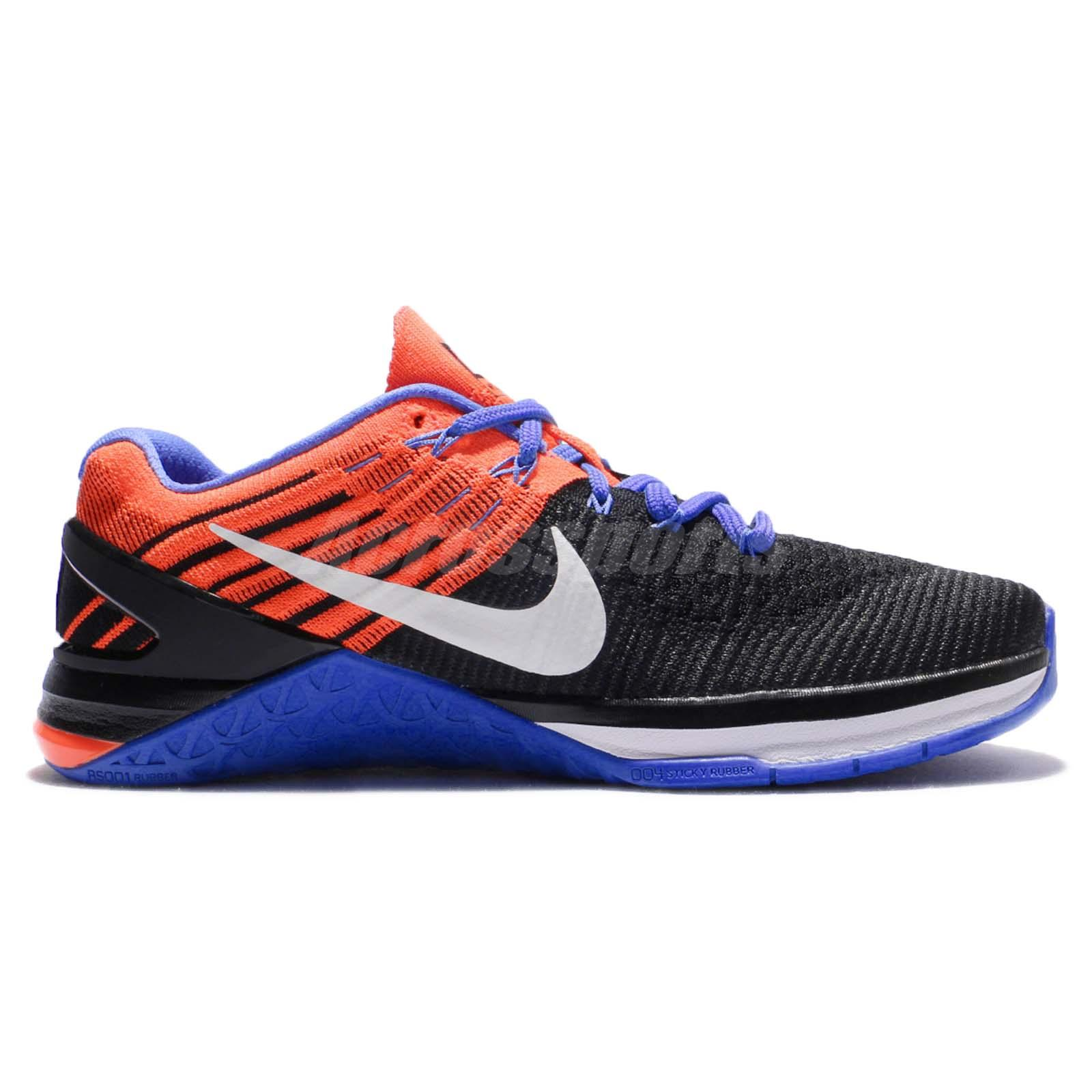 the latest 436ef 69262 Nike Wmns Metcon DSX Flyknit Black Blue Crimson Women Training Shoes ...