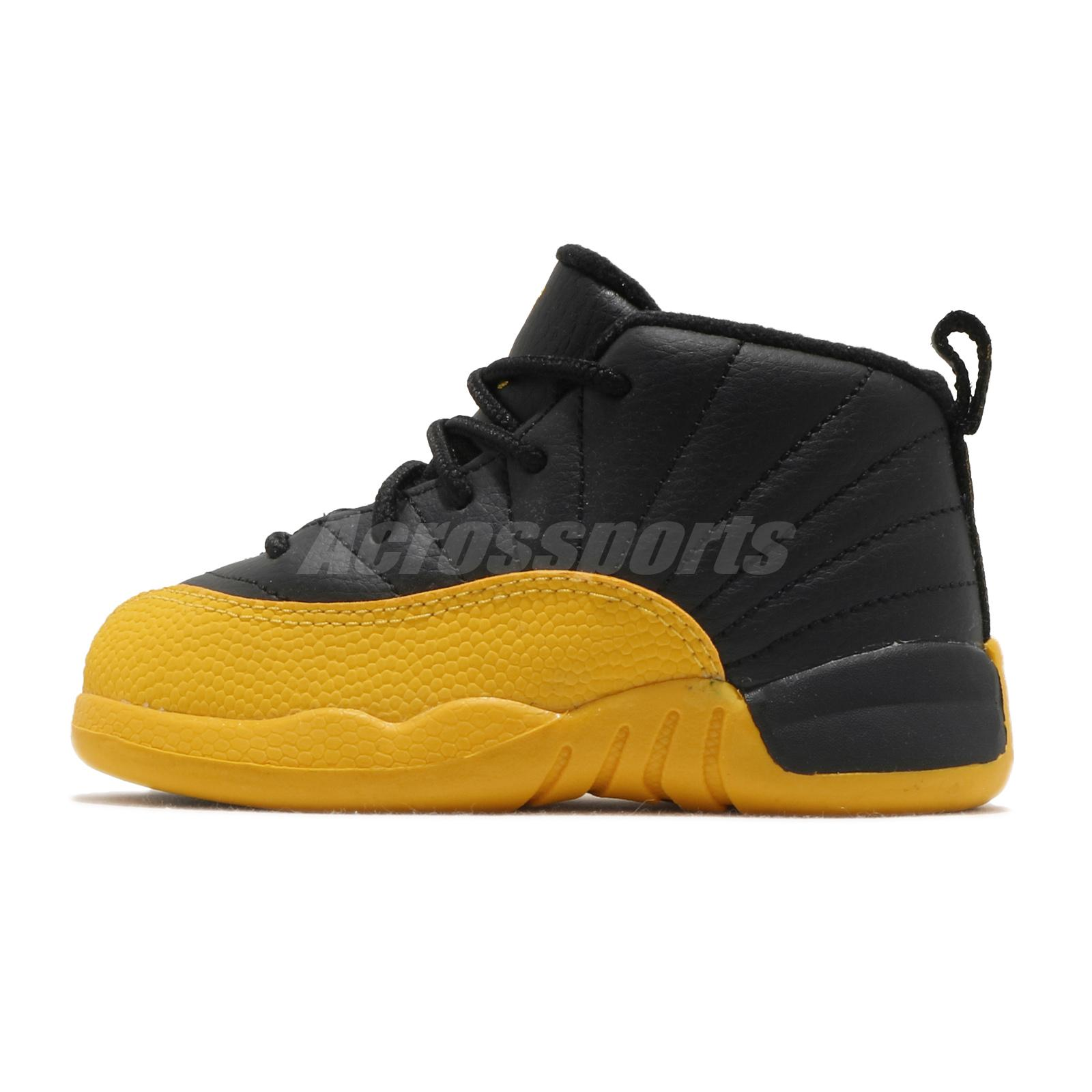 Nike Air Jordan 12 Retro Td Xii University Gold Black Toddler