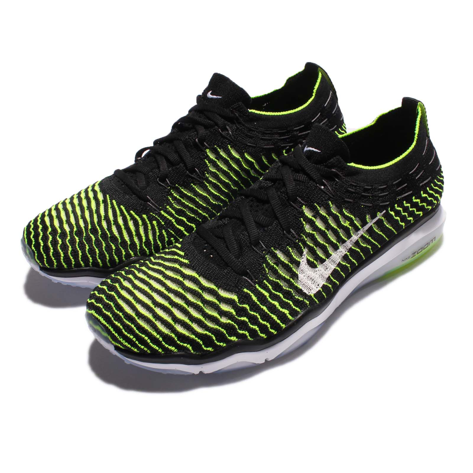 Nike Wmns Air Zoom Fearless Flyknit Black Green Women Training Shoes 850426002