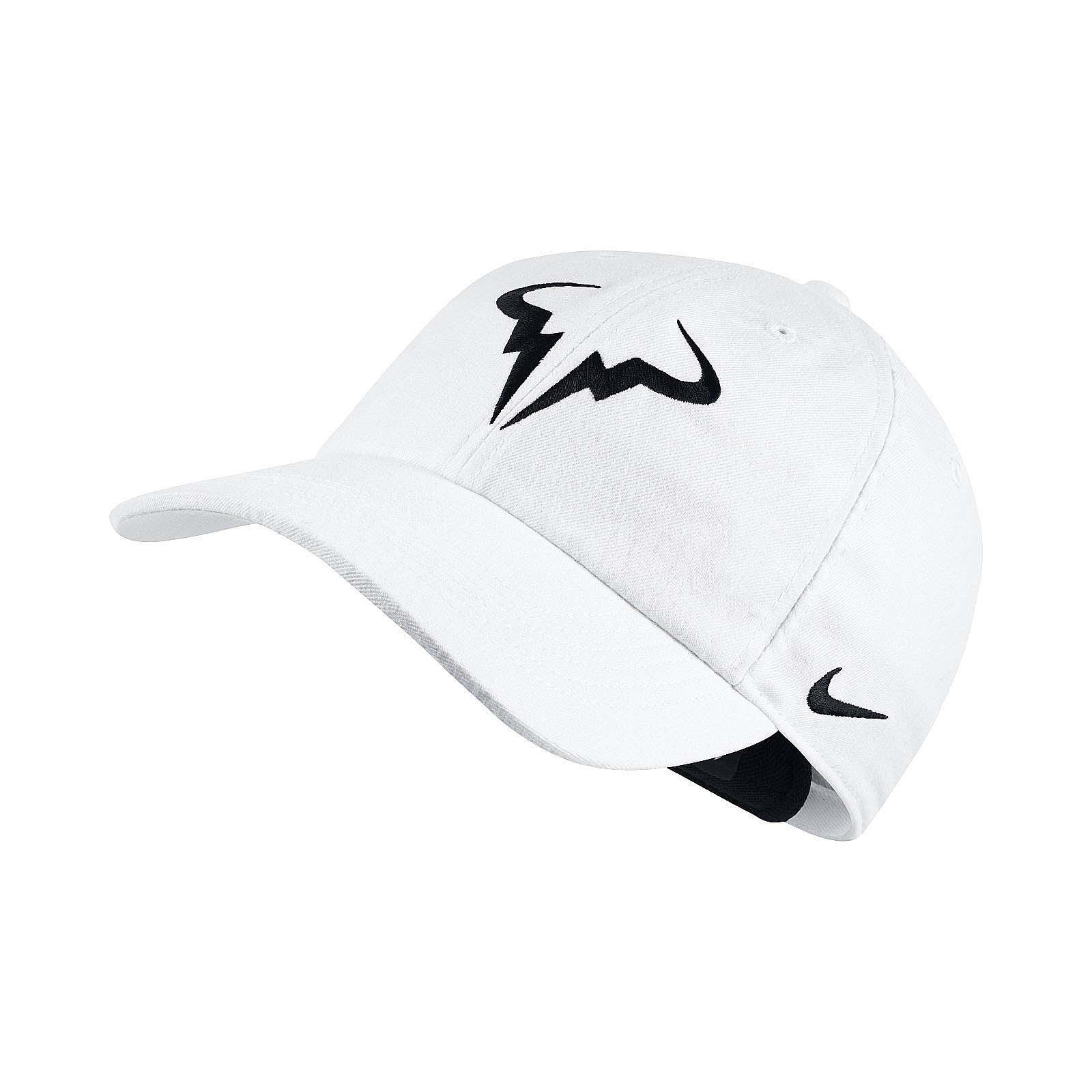 e59f507b5 Details about Nike Men Rafa Arobill H86 Cap Rafael Nadal Tennis Hat White  Black 850666-101