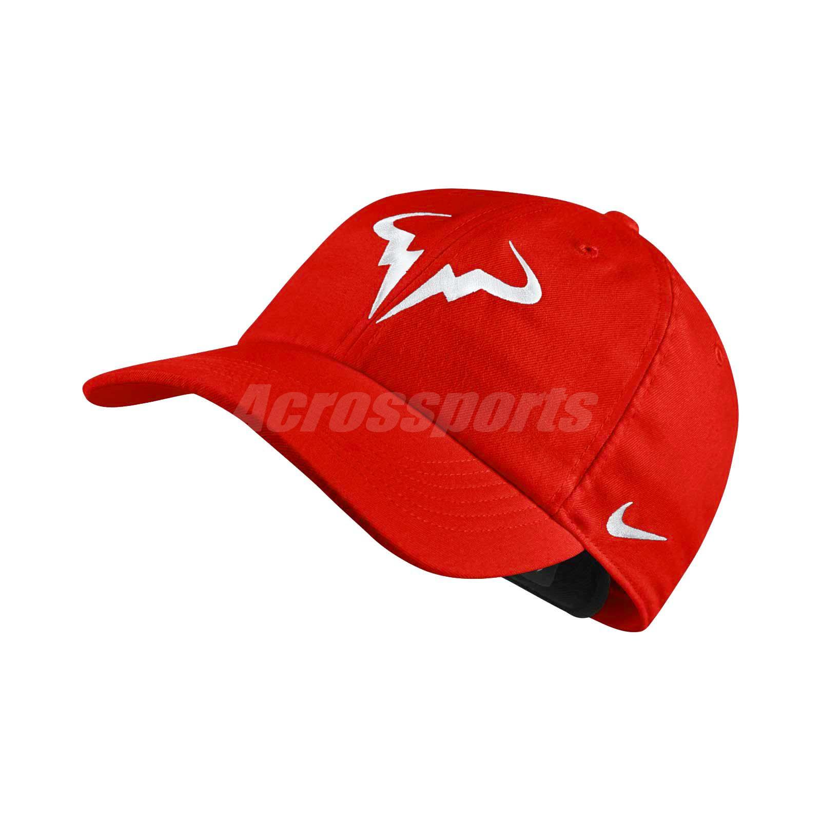 0e2f92b3d9812 Details about Nike Court Rafa Aerobill H86 Cap Tennis Adjustable Hat Nadal  Red 850666-634